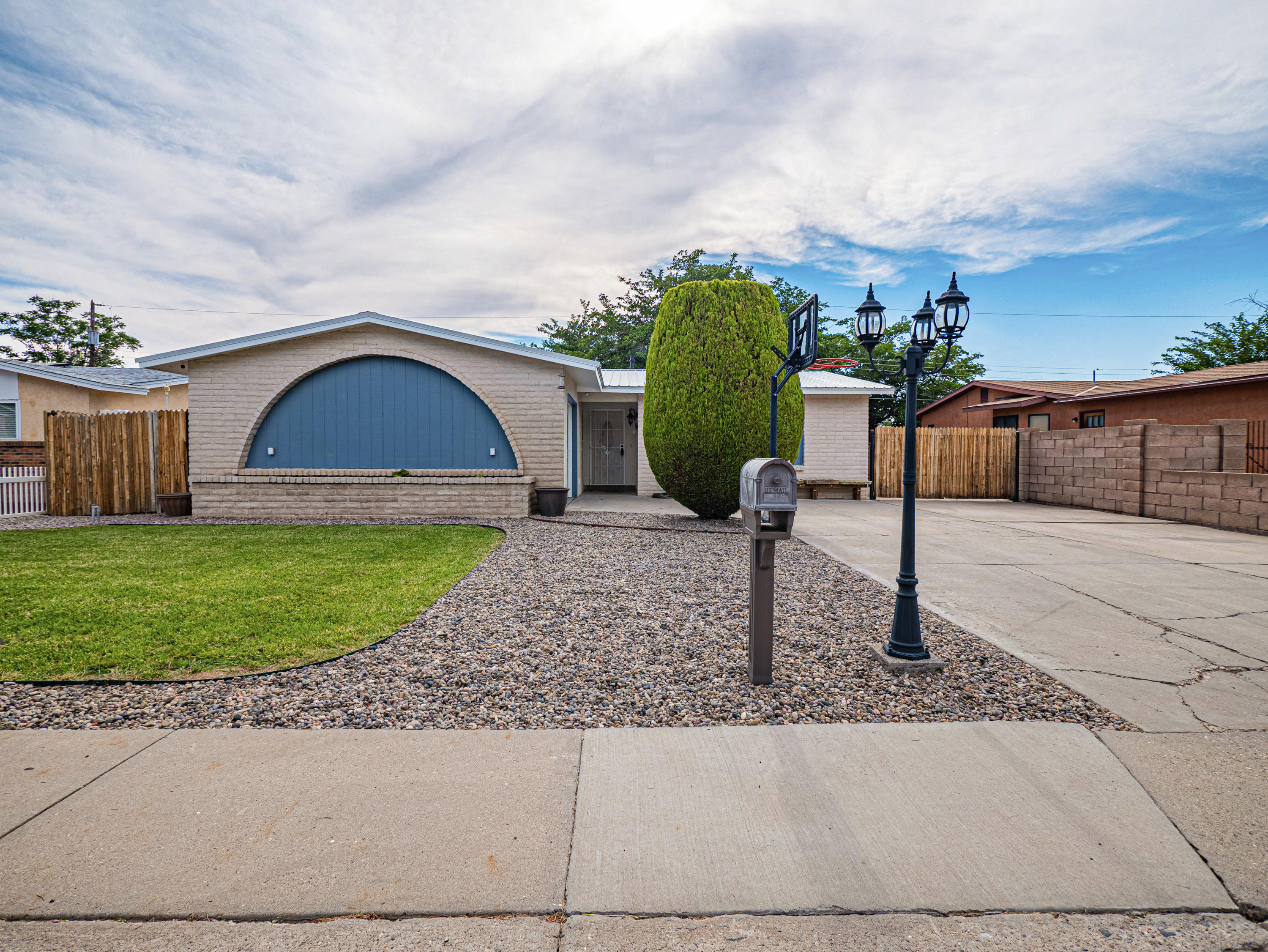 This completely remodeled NE Heights gem is ready for a new owner! New roof, doors inside and out, paint, master bath remodel, windows throughout, garage door,  carpet and stucco improvements all completed 2021! RV parking, hot tub pad with 220V already hooked up. 120 sq ft bonus shed with loft. Refrigerated air. Plumbed and ready for your favorite pellet stove. Tankless water heater. So many upgrades. Come check it out today!