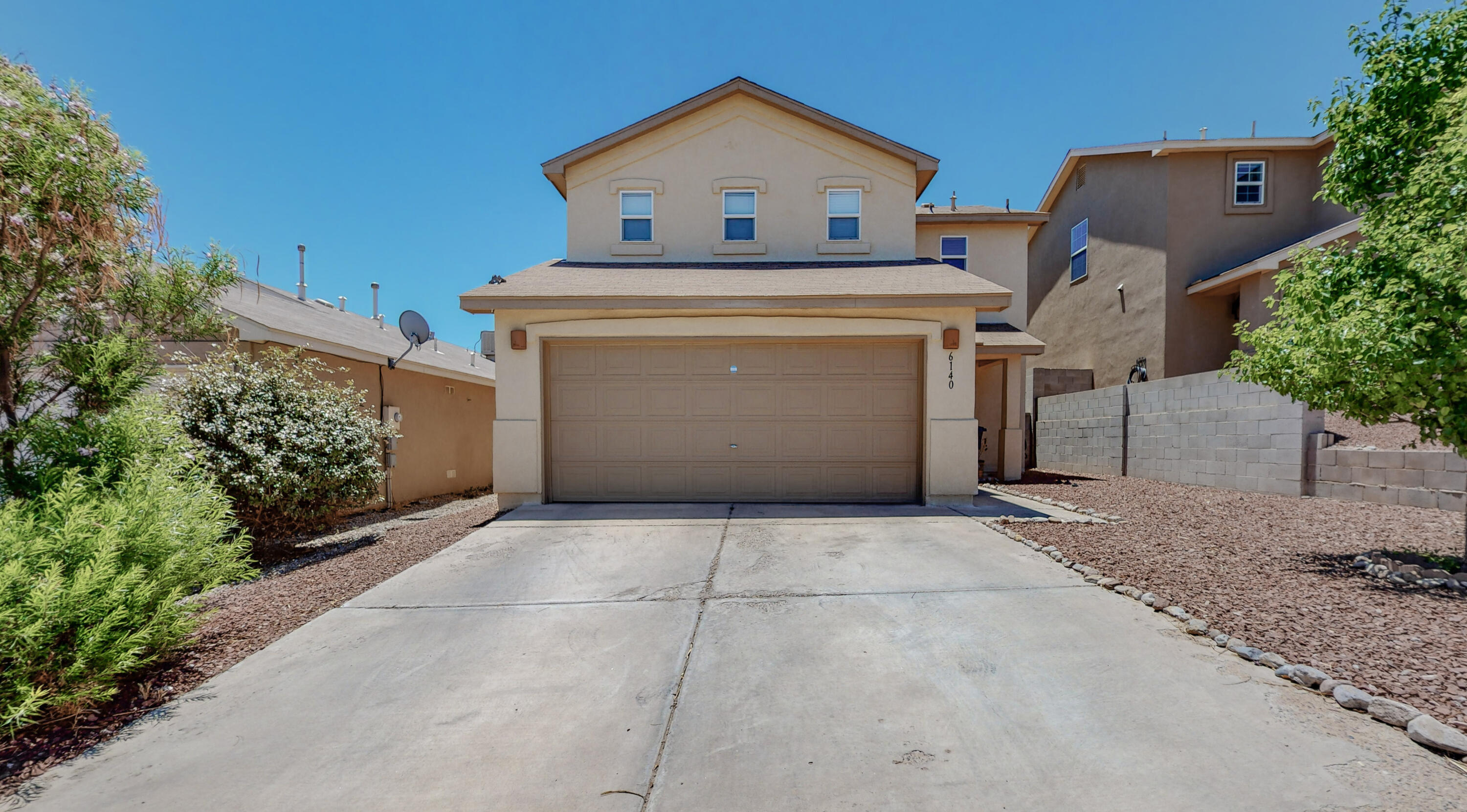Check out this move in ready home in NW Albuquerque.  This home features 3 bedrooms, 2.5 bathrooms, and refrigerated air.  Home is located near a very nice park.  Nicely landscaped home is ready for new owners.  No showings until Friday and Saturday.  Ring doorbell and ring camera do not convey.  Please submit your highest and best offer.