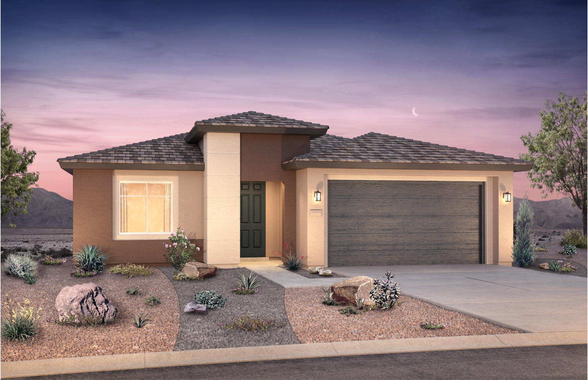 Very popular single-story Manzanita home in Broadmoor Heights Peak, Rio Rancho's newest community! This home has a gourmet chef kitchen, 8' upgraded interior doors, a huge sliding glass door to the covered patio outside, gorgeous flooring and more!