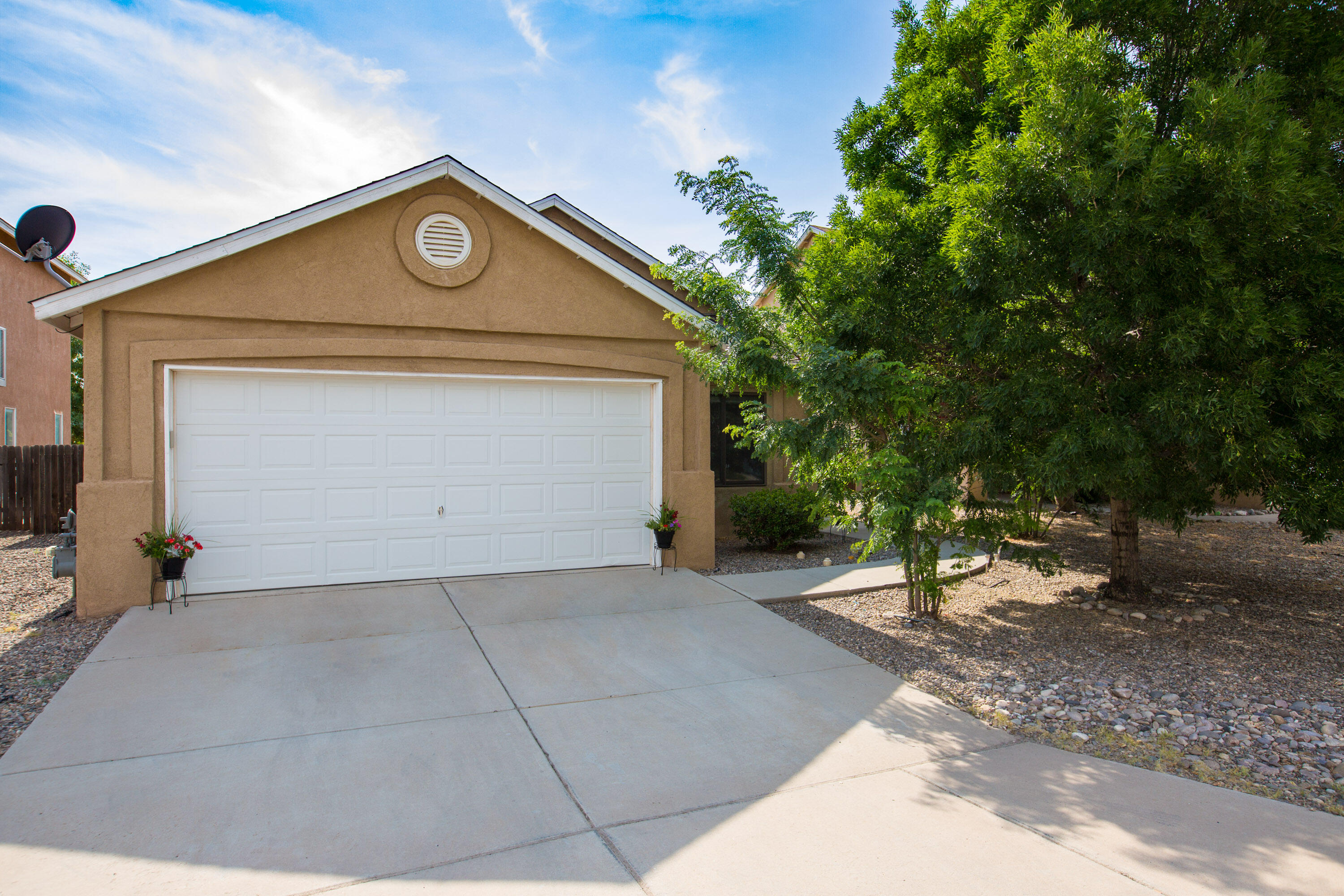 What a find!  You CAN still find a great home at an affordable price. Close to parks and only 6 miles from downtown Albuquerque. This sweet South Valley home is tucked away on a tree lined street. Inside you will find 3 beds and 2 full baths- large master walk in closet. Roof was replaced in June 2021.  Clean and bright you will not want to miss this one.