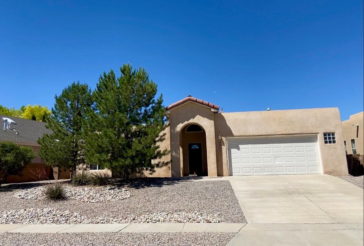 Location, location, location! Located close to Cottonwood Mall, Target, Total Wine and all the other shopping and restaurants in the area. This 1 story, open floor plan offers lots of natural light, stainless steel appliances, vaulted ceilings and stylish tile. The neighbor is high end featuring custom homes with easy access to river crossing at Paseo Del Norte. This house is move in ready with mature landscaping. This house is ready for you to make your house a few simple touches and this could be your dream home.