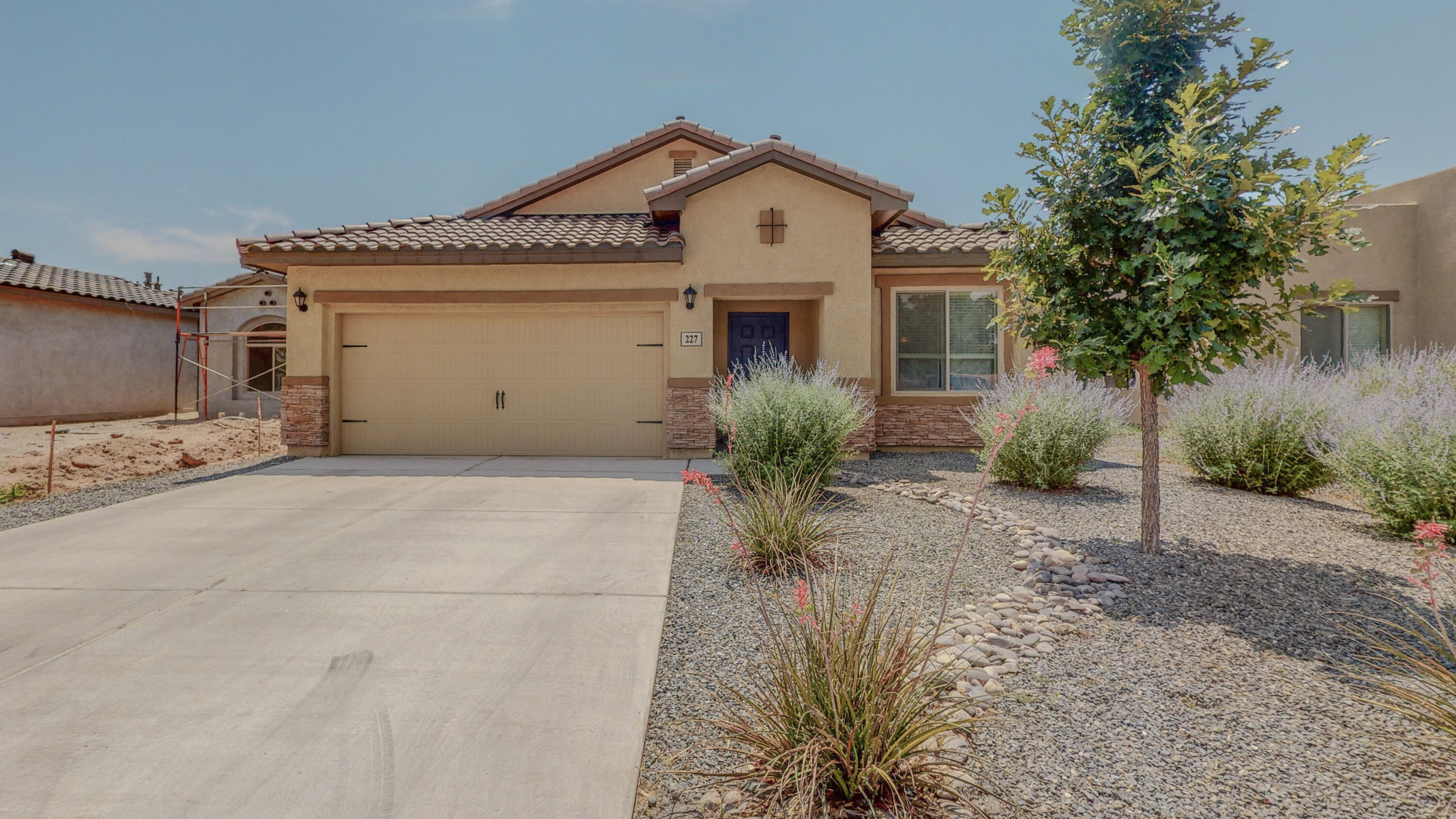 This beautiful LGI home sits on a quiet, gated cul-de-sac that is right next to the bosque! With gorgeous greenery & trails so close, it is easy to forget that it is so conveniently located to the heart of Albquerque! It was purchased new just 3 years ago, so it is in great shape with a very current decor. The kitchen boasts beautiful granite countertops & dark wood cabinetry, stainless steel appliances, tile floors, & it is open to the living room! There is a raised bar that transitions the spacious living room to the kitchen. The sellers added a Champion Sunroom to the patio! The backyard has been partially landscaped & grass was in the plans next before plans changed.  The master suite includes a walk-in shower, garden tub & double sinks, plus a walk-in closet! This home is a must see!!
