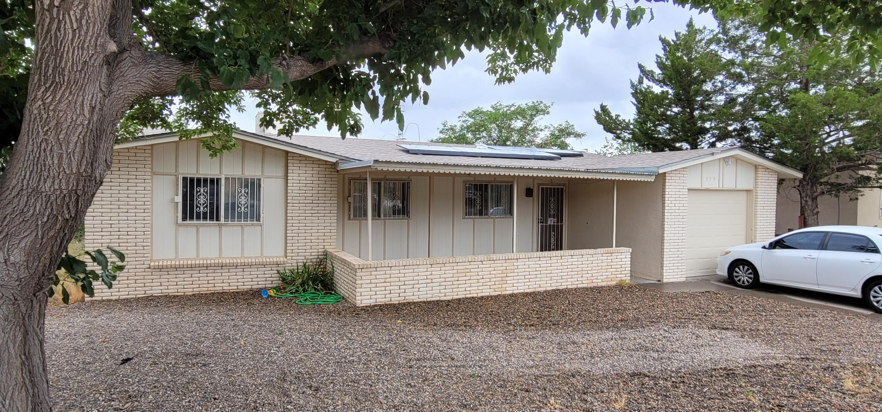 Check out this beautiful 4bd 2 ba home in the NE Heights! New water heater, roof is 2yrs old, garage door is 1yr old. Come see today as it will go fast!