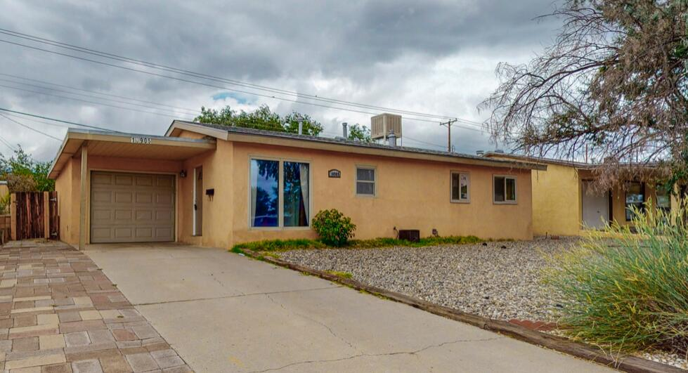 Wow... incredible 3 bedroom/1 bath/1 car garage across the street from McCollum Elementary school! It comes with refrigerator, electric range, dishwasher as well as washer/dryer--perfect for first time homeowner! The property has a large backyard and covered back patio.  Add your own firepit, trampoline, or oasis and--no HOA... ! New Roof (permitted 6/2021), carpet, paint, evap cooler installed June 2021.   Open house on Saturday and Sunday...or call your realtor for a private showing!