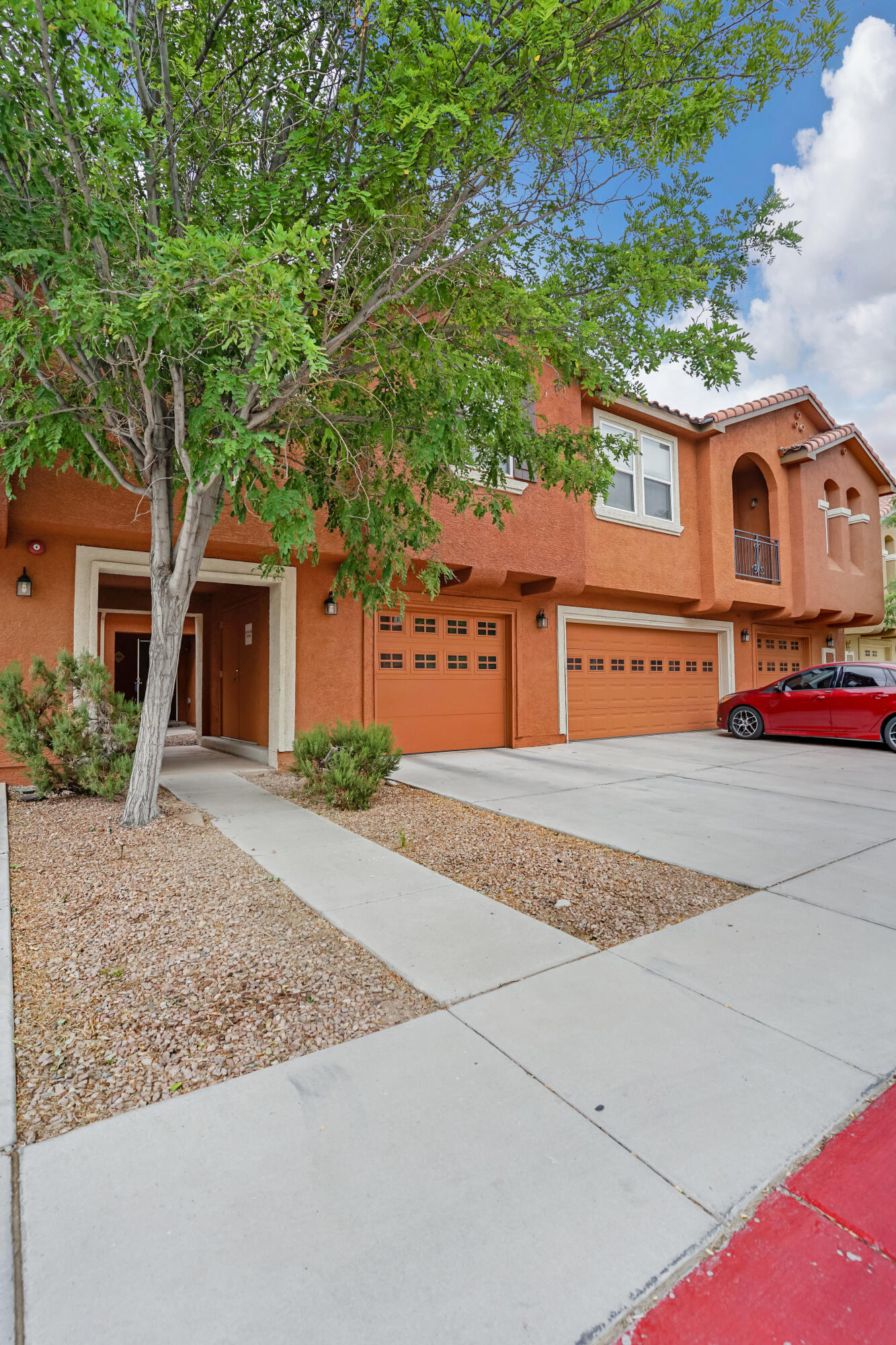 Multiple Offers Received! Move-in ready! Well maintained three bedroom two and a half bath condo located in the gated Villas Community! The main floor features an open concept living room, kitchen, dining room perfect for entertaining! The kitchen features beautiful 42'' upper cabinets, granite countertops, and a pantry. The downstairs also has a powder bath, laundry room, and one car garage. The upper level features all the bedrooms and full baths. Master Bedroom features an ensuite with double vanity and garden tub/ shower combo. Relax on the back patio after a long day! All appliances stay!  HOA  features - Community Pool - Maintenance of Exterior of Residence - Maintenance of Front Landscape - Clubhouse - Common Area - and Gated Security.