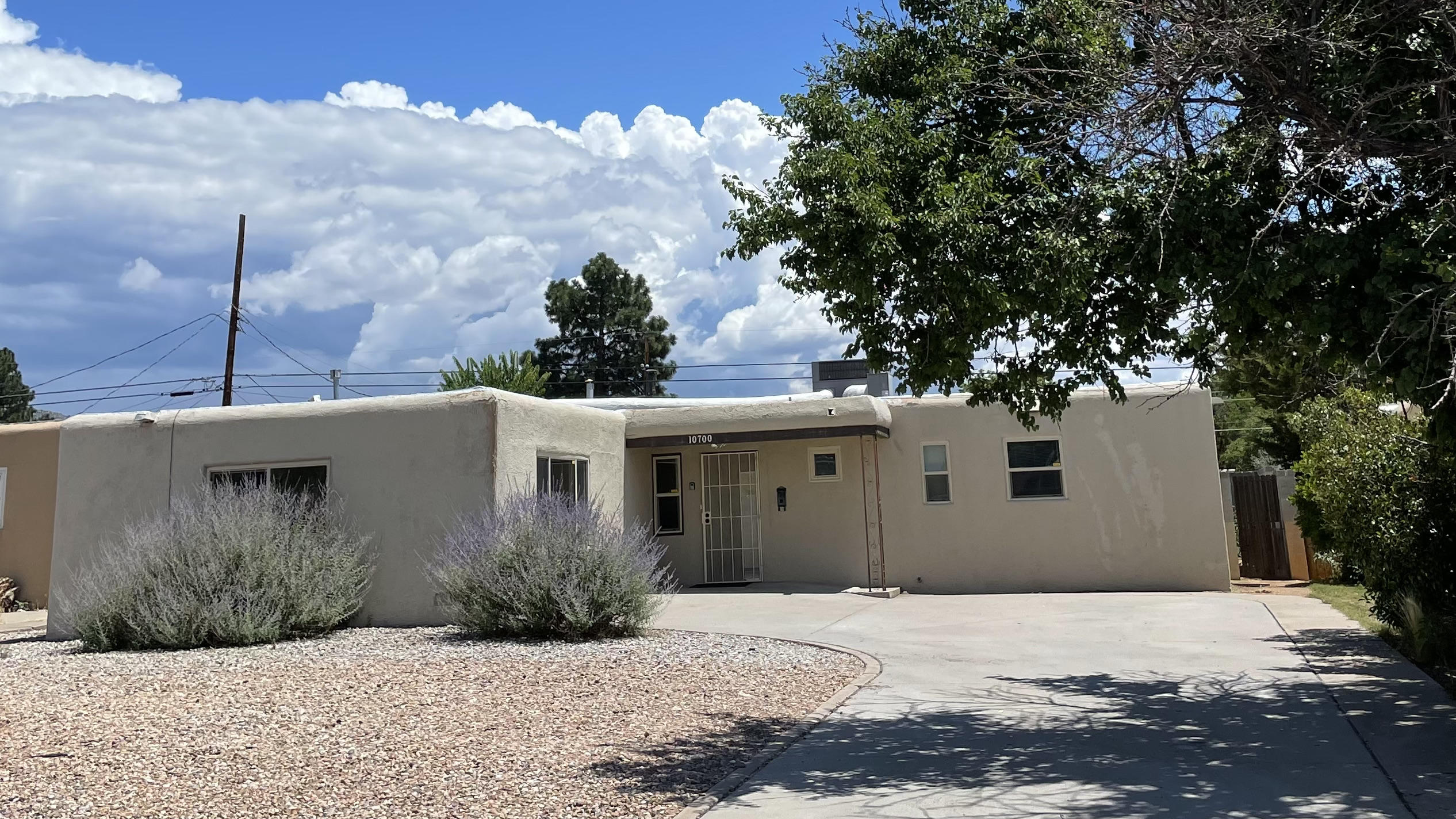 Needs work, priced accordingly. Newer windows and Refrigerated Air.  Large covered patio in Backyard.