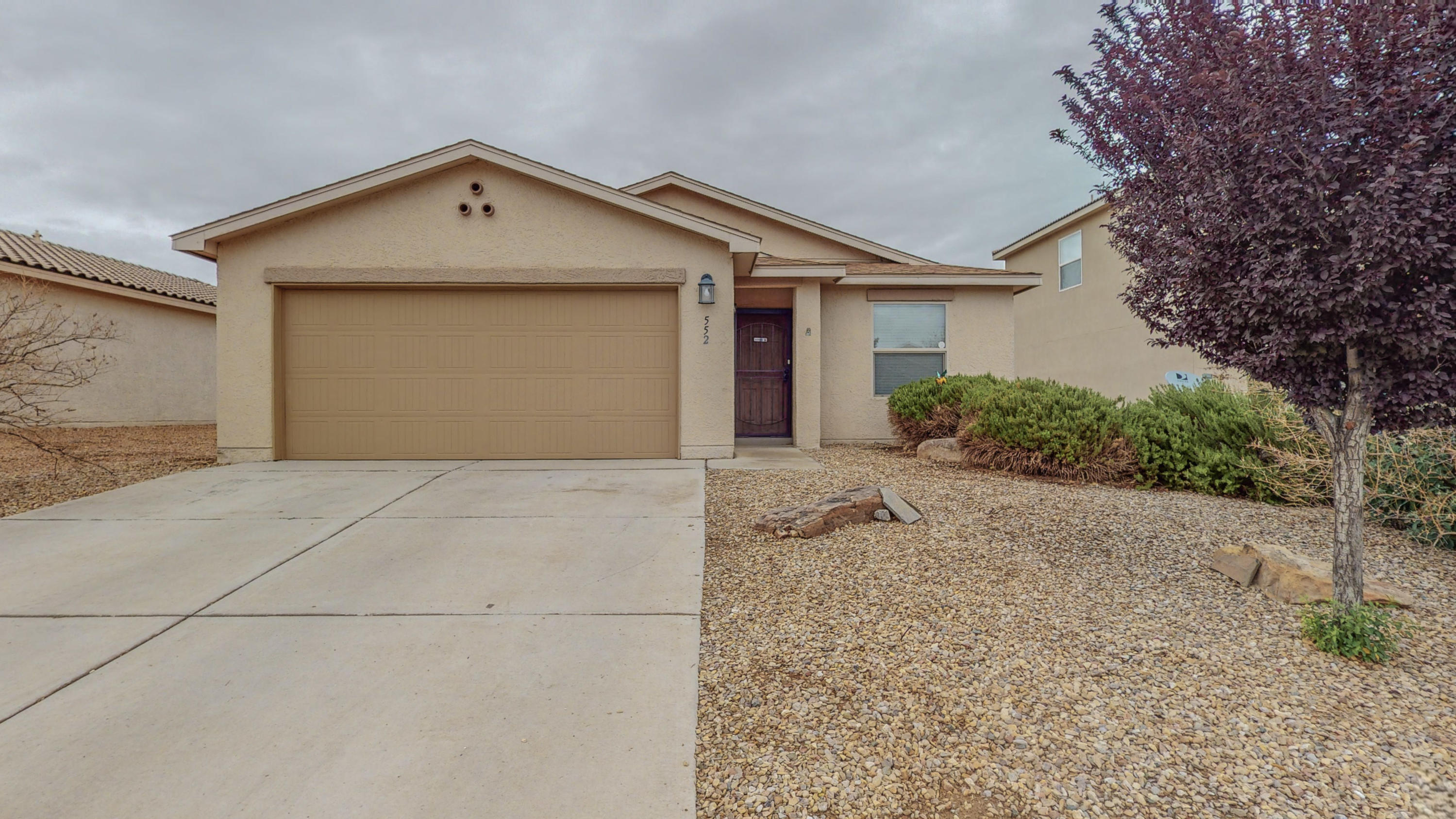 Come check out this beautiful home in Los Lunas! Close to schools, restaurants, and amenities! Not to mention, only minutes from I25. This 3 bedroom 2 bathroom home has new vinyl flooring throughout, new kitchen faucet, new shower heads in both bathrooms, granite countertops and tile backsplash in the kitchen, refrigerated air, and so much more. ALL APPLIANCES STAY!! Come check out this gem before its too late!