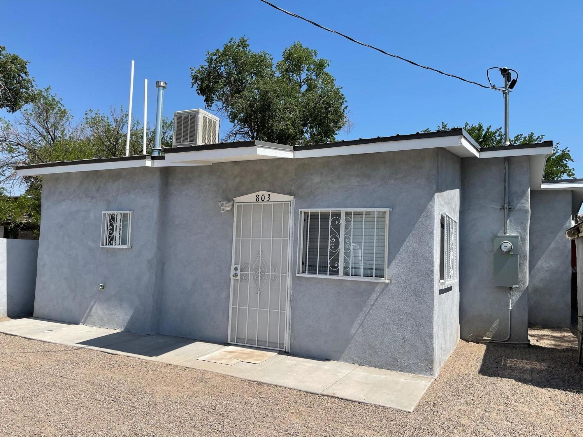 Cute 2-bedroom home in a well established neighborhood.  Completely remodeled.  Close distance to the Abq Bio Park. Property Sold As-Is