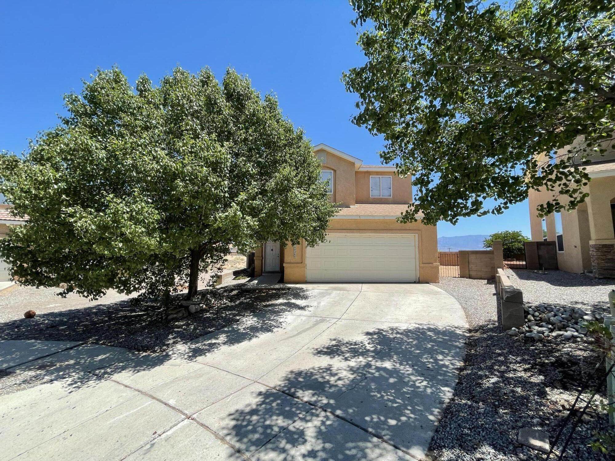 Take a look at this entertainer's dream home, featuring a large corner cul de sac lot boasting epic views of the Sandia Mountains! The open concept living, dining, and formal spaces flow seamlessly and are perfect for all ages and life stages. You will find four oversized bedrooms, three bathrooms. A fantastic opportunity for someone looking to make this house their own! This one won't last. Could you schedule a showing before it's gone? Complete photo package coming 7/9/2021. Cash buyers preferred; with a bit of touch up you can quickly tap into a lot of sweat equity.