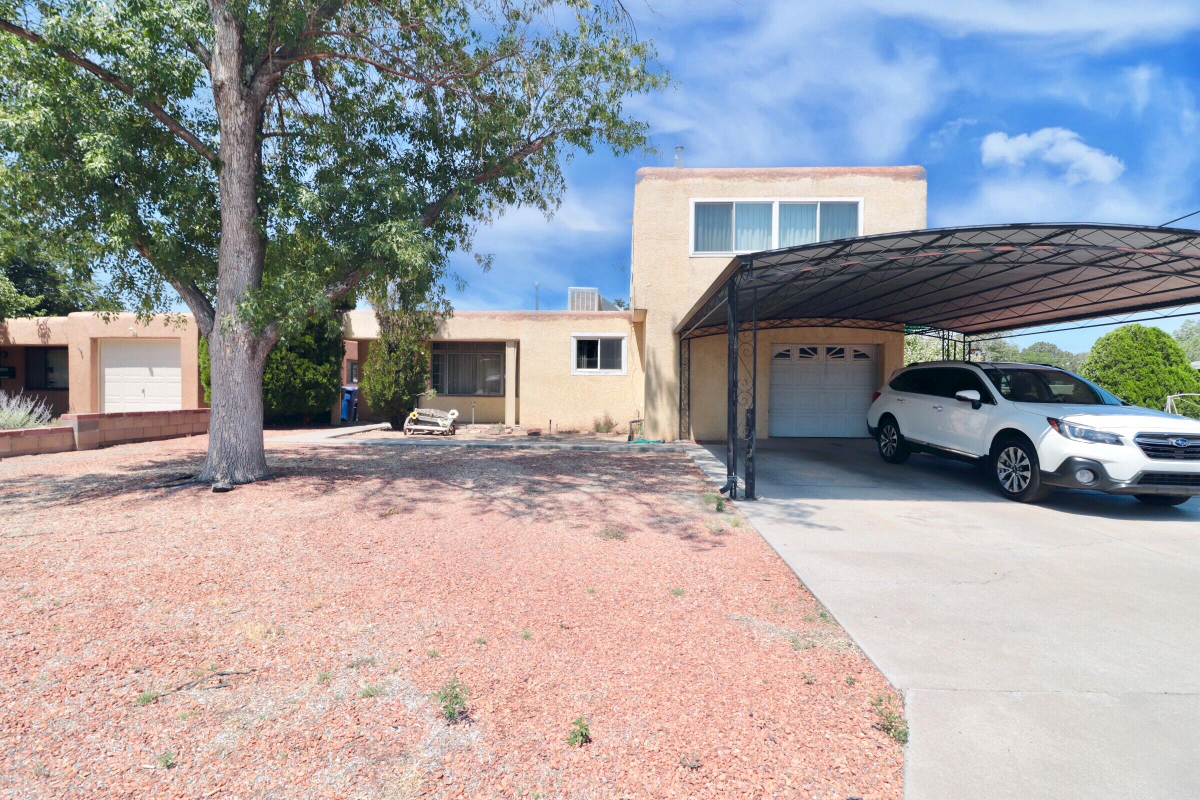 Unique and awesome opportunity!! This is two homes in one, main area is living/kitchen,2 bedrooms and 2 bathrooms all on the main level. Through the utility room you can access the in-law suite which also has a kitchen, 3 bedrooms and two bathrooms, the bedrooms are on the 2nd level. There is a separate entrance on the North side of the property(facing Roma) for the in-law area. Attached 1-car garage and an additional detached high bay garage with a ''mechanic-pit'' for enthusiasts and the garage might be big enough to house an RV.