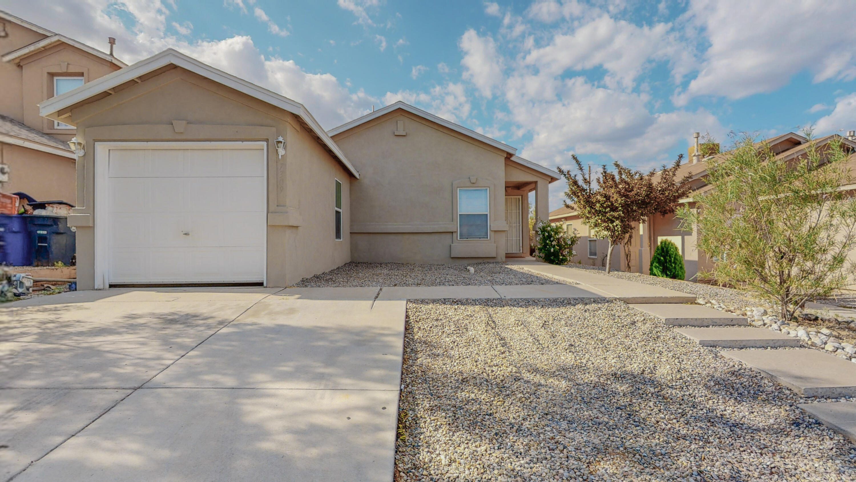 This is an adorable property! Cute two bedroom with 1 3/4 bath.  Contemporary colors with lots of tile.  Great kitchen with nice appliances, pantry and eat at island.  Wonderful master bedroom bath with walk in shell shower. Nice back patio with  shed and a beautiful tree. Security front door.Come see us!