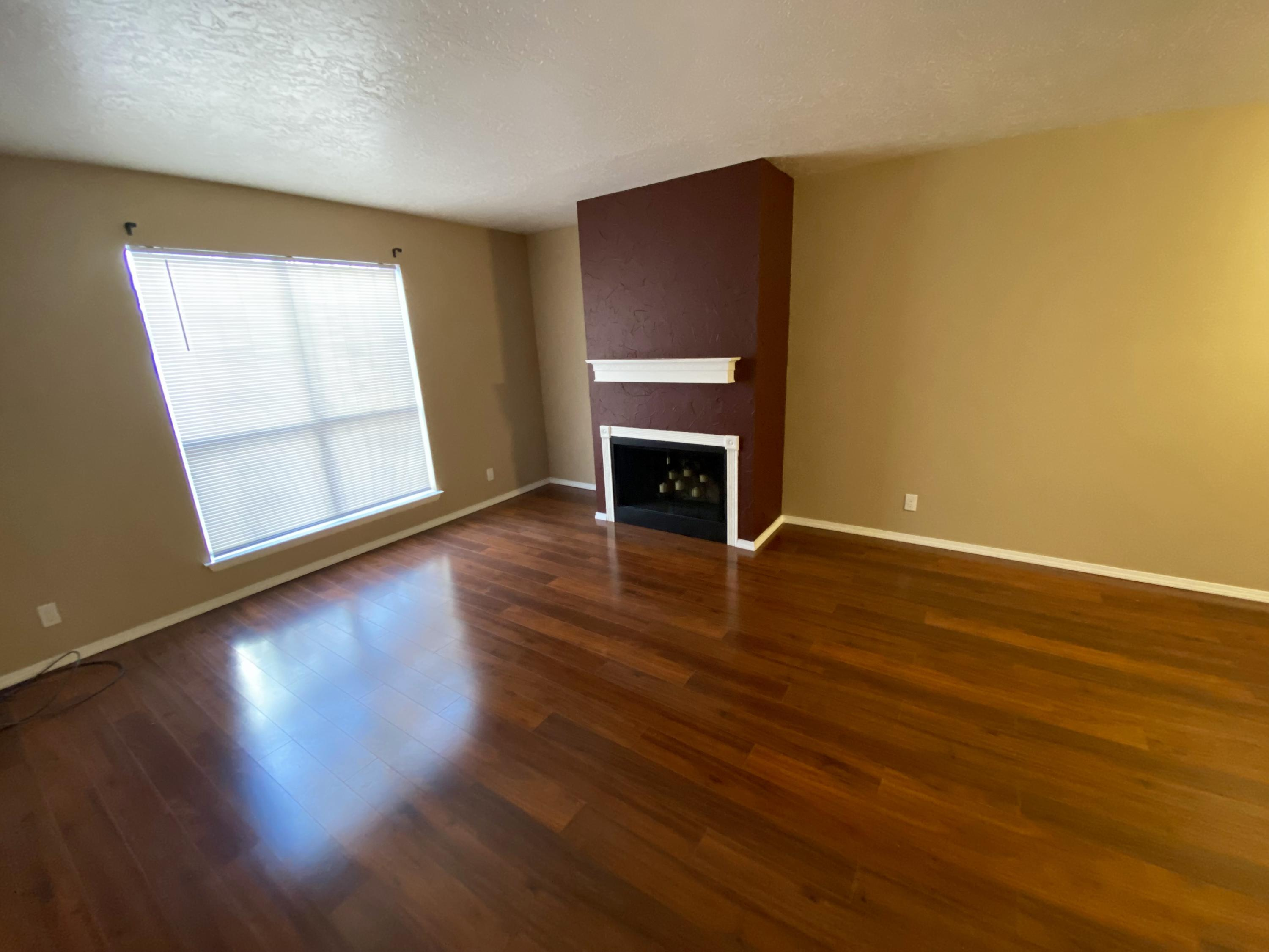 Great home in quiet community with pool and park. Large fireplace, and walk-in closets. Move-in ready.