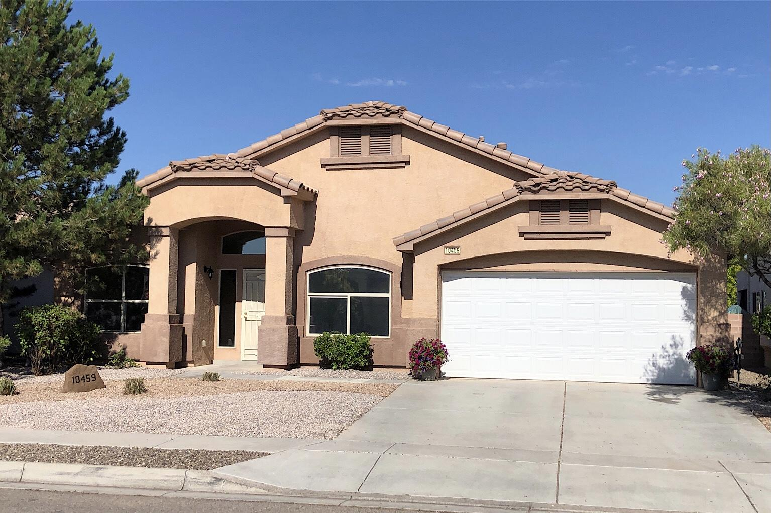 Located in the very sought after neighborhood in Cantacielo of Ventana Ranch.  Nice 4 bedroom, 2 bath DR Horton Home. Large Open Floor Plan with High Ceilings. Large Master suite, 4th bedroom/office. Granite counter tops, refrigerated air, stainless steel appliances, Large pantry. gas log fireplace, and newly installed garage door opener. Nicely xeriscape in front of home.   Backyard to be xersicaped the week of 7/19/21Prefer Stewart Title Company, Cottonwood Branch, Sandra Johnson.