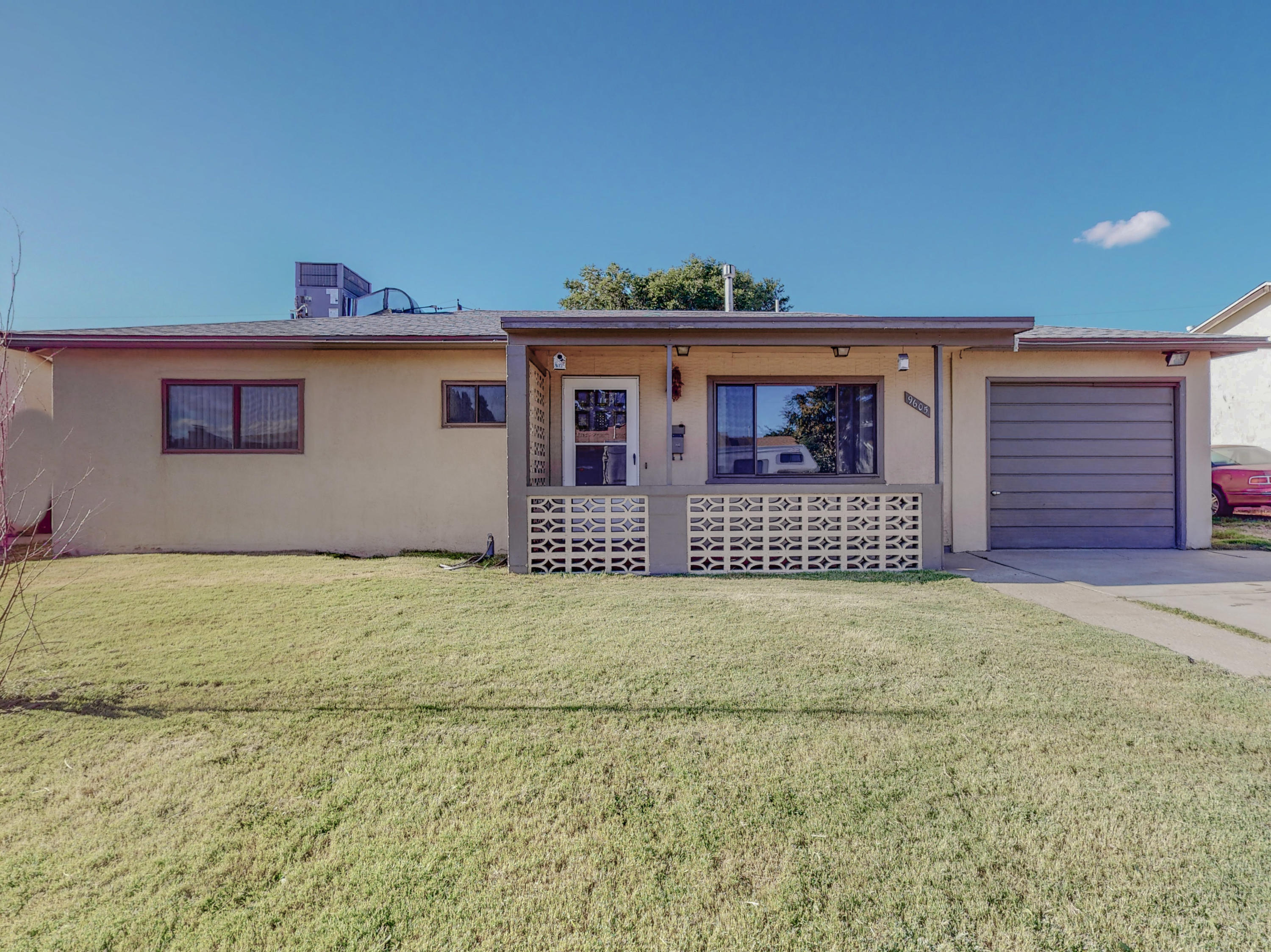 Welcome to this wonderful home located in the Northeast heights. Home includes 3 bedrooms and 2 bathrooms. Big backyard with backyard access. Newer roof 2016, new windows 2017, new refrigerated air unit 2021. Schedule your showing today.