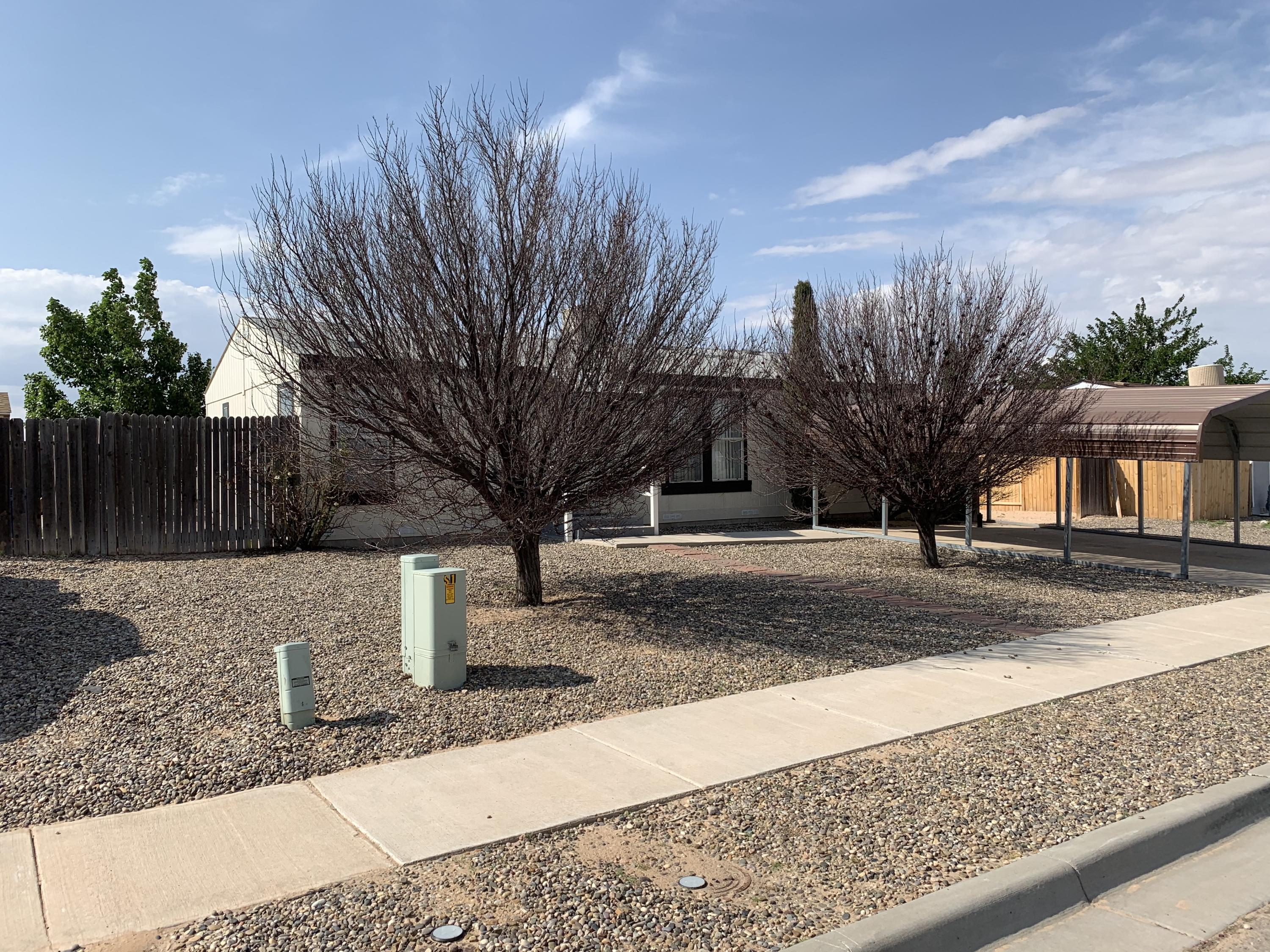 3 bedroom affordable home, super convent to get on Interstate 25, just 4 minutes away.  Home is cleaned, carpets shampooed and ready to move in.  Bright with lots of windows for natural light.  Large back yard, accessible for your extra parking needs.  Gravel and carport in front.  Make an appointment today.