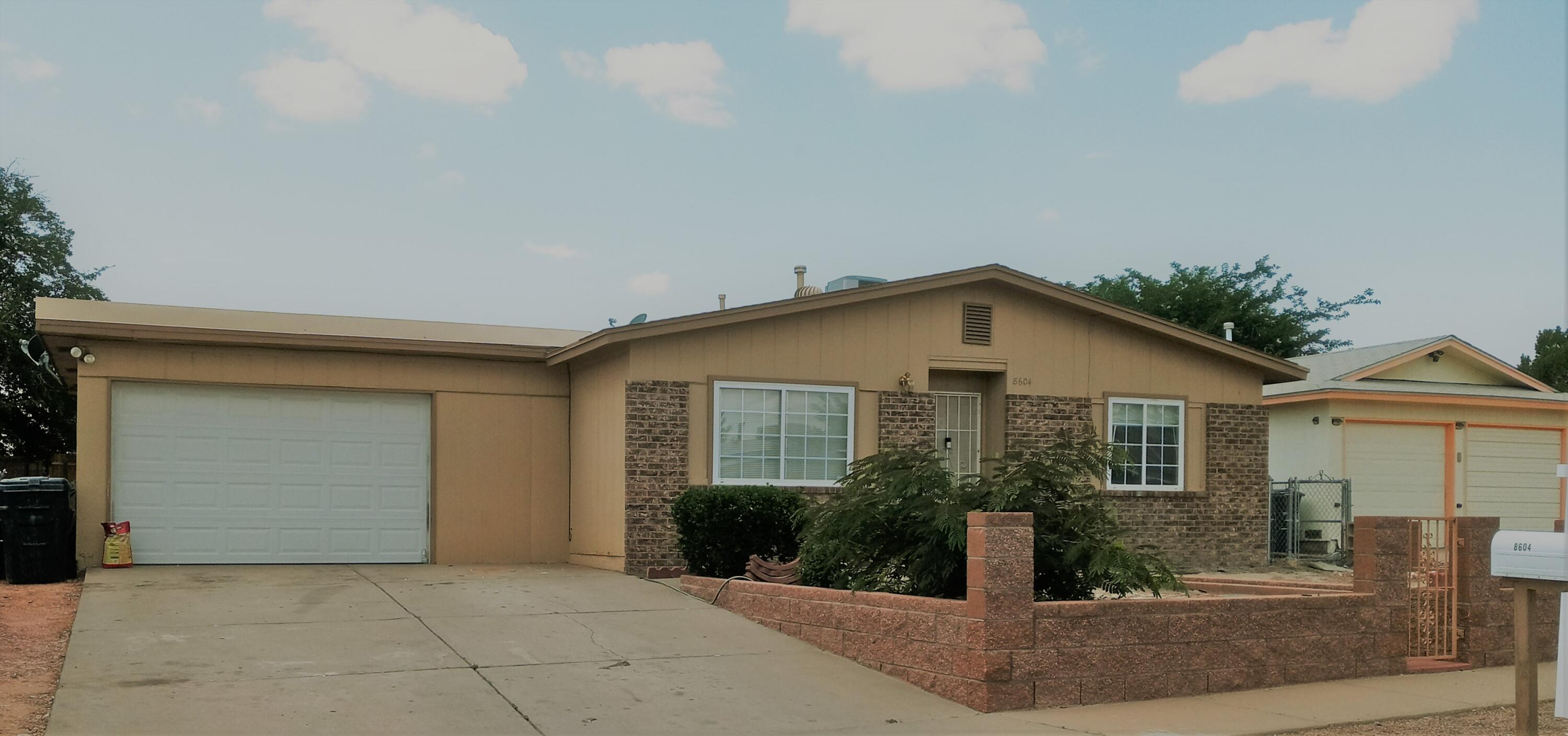 Three bedroom 1.75 bath. Living area with fireplace. Large back yard. Near schools, park, shopping centers and more.