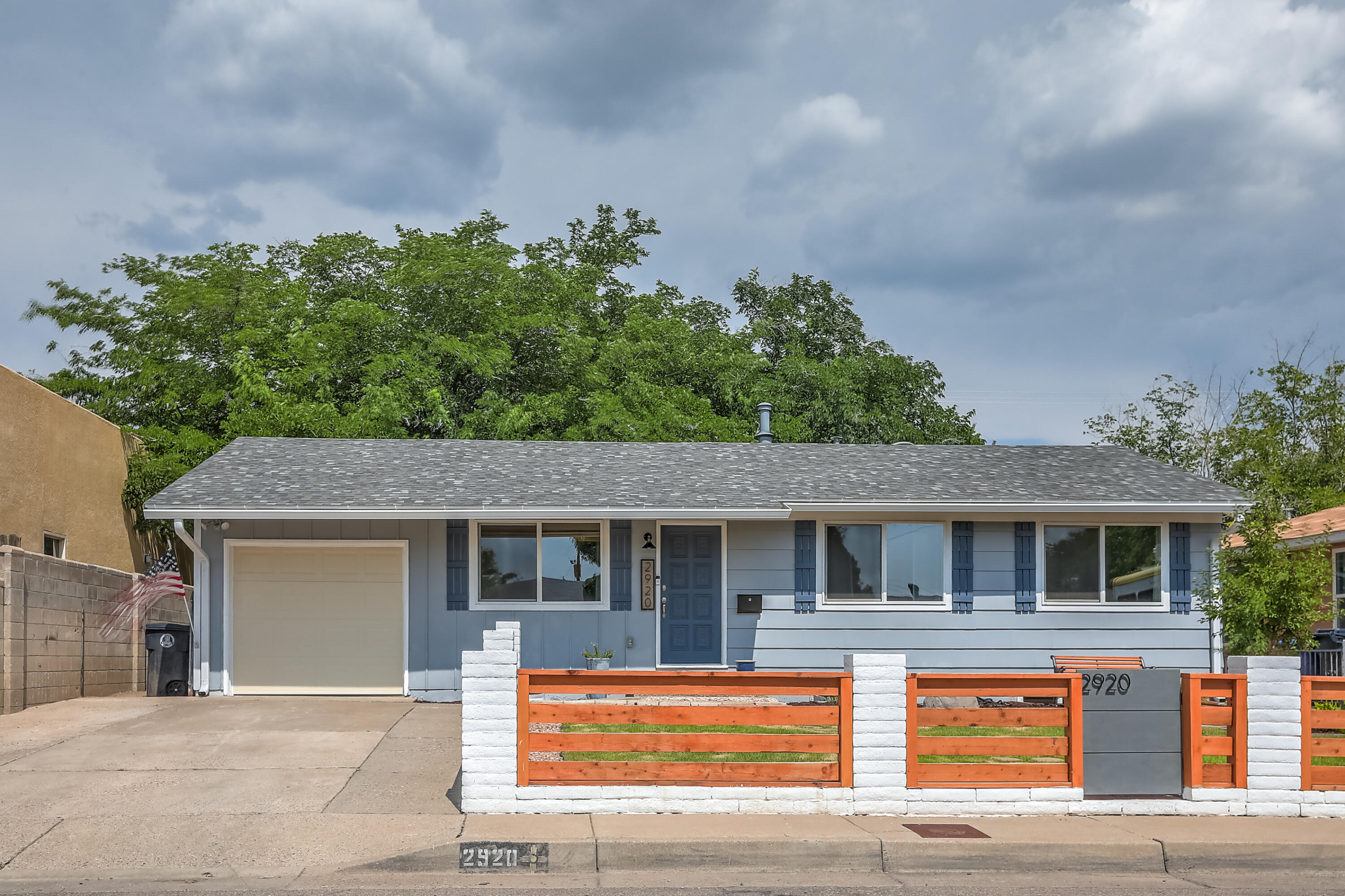Beautifully updated and remodeled house located in the NE Heights. This home has an open concept living and kitchen area with 4 bedrooms, 3 bathrooms and is move in ready. This house has been fully remodeled and updated. Kitchen features custom cabinets, black stainless steel appliances, new  granite countertops, white subway tile backsplash, extra sink and pot filler over stove. The master bedroom has a luxurious ensuite bath with a separate shower. Downstairs you will find 3 bedrooms and 2 flex spaces with a kitchenette and bathroom.  This house also features just about new everything, see seller improvements list!