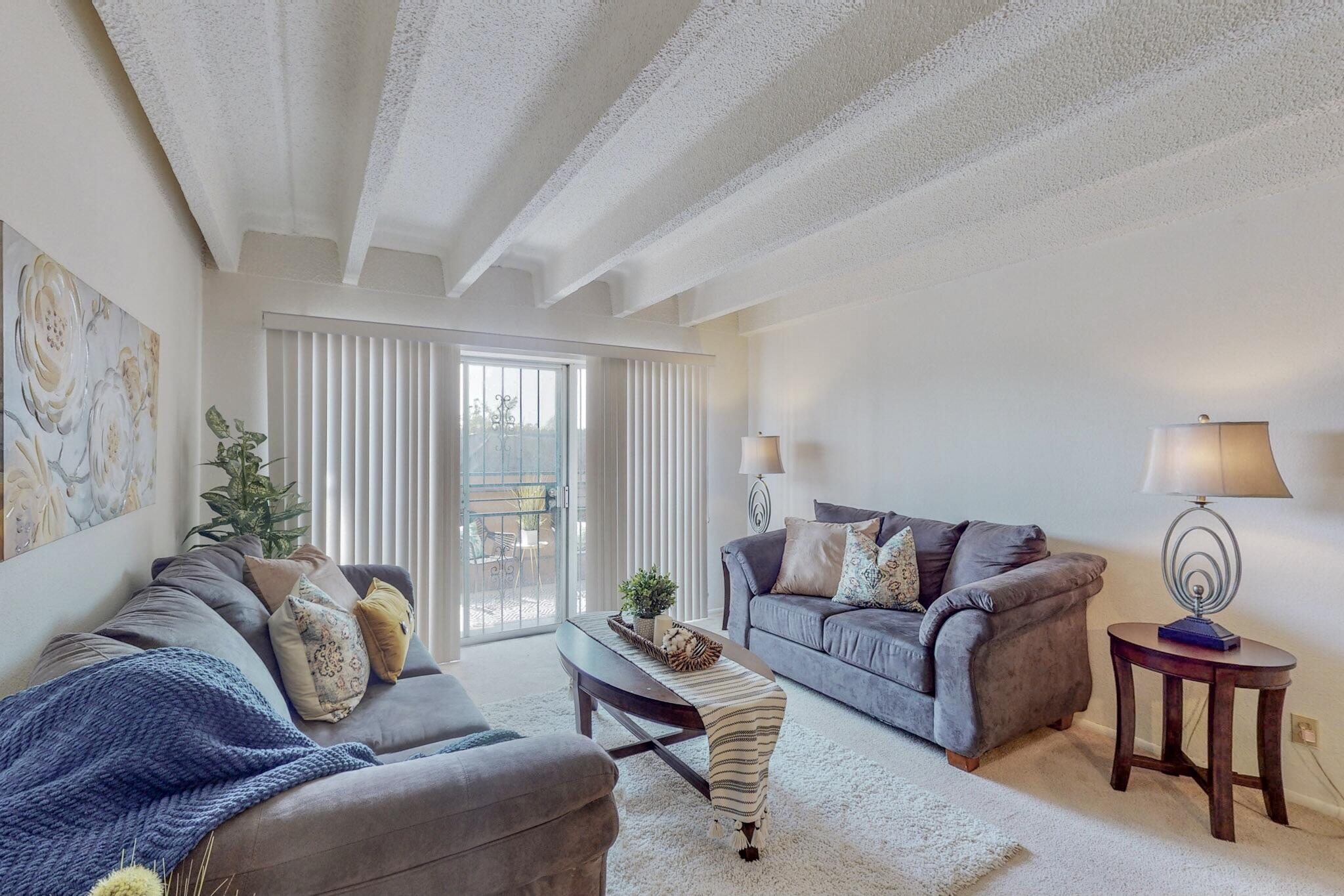 Bright and Cheery condo! This 2 bedroom, 1 bathroom cream puff has large bedrooms, an extended bathroom and a cozy balcony. Natural light pours in through the windows and sliding balcony doors. This gated condominium has a pool and a gorgeous large grassy courtyard. The HOA includes gas, water, all exterior maintenance, pool, conference room, on-site laundry facilities, extra storage space, and the use of the pool. Perfect cozy condo! Schedule your showing today!