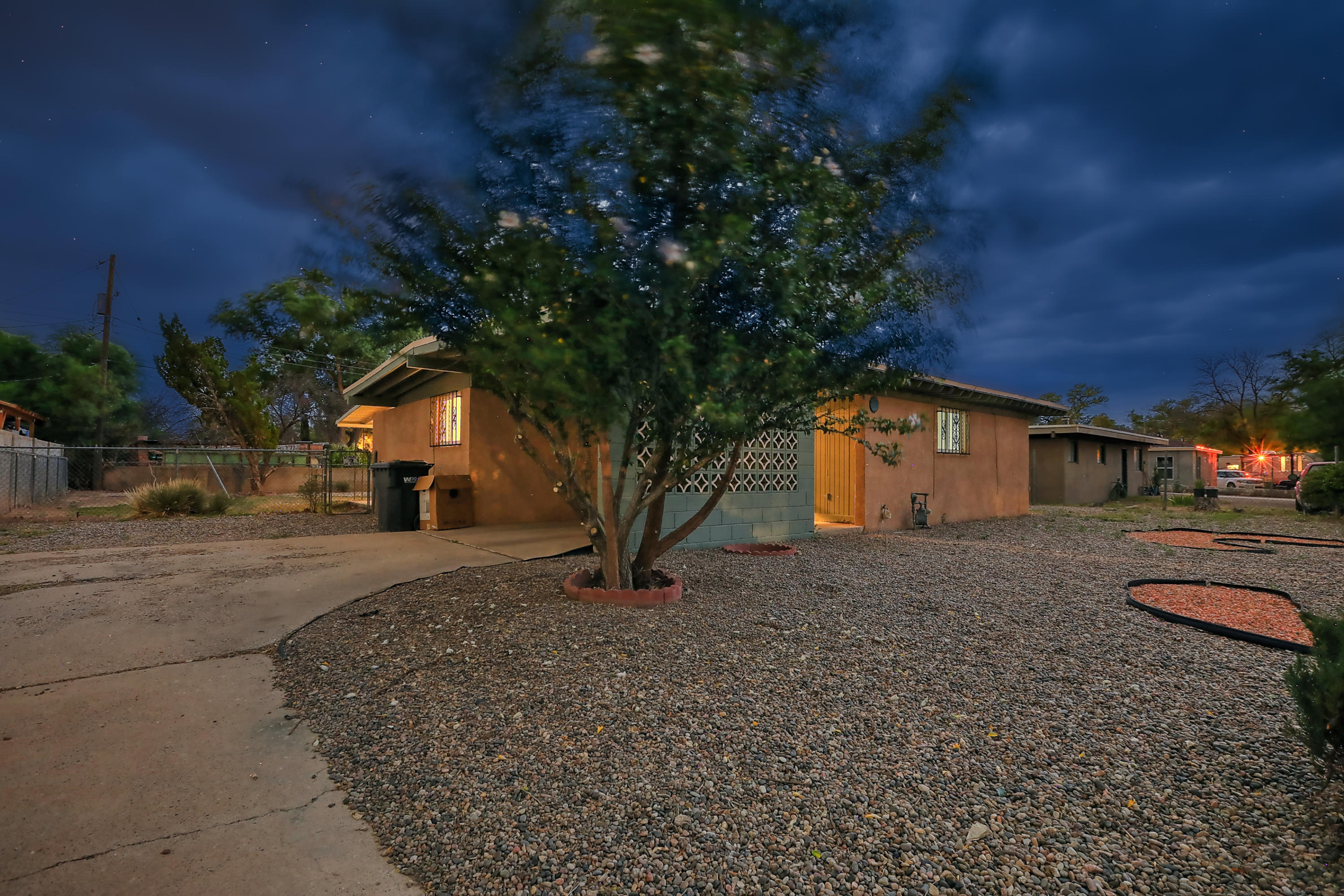 Adobe Acres Gem!  Come walk this freshly painted, new tile flooring, updated bathroom and much much more!  This 1 story sits on a huge lot with backyard access, large trees and beautiful subdivision. Priced to sell!!