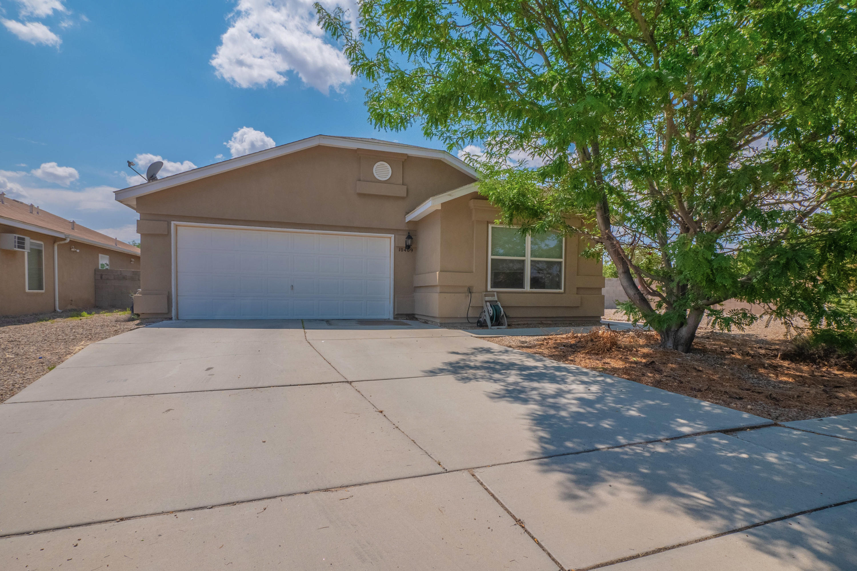 This beautiful and well cared for Artistic home can be yours! With an oversized .21 acre corner lot you have plenty of room for back yard activities. If that's not enough, there is a new beautiful park just across the street. This private Seville neighborhood is very close to Presbyterian Rust and a short drive to Paseo or Rio Rancho. This home features refrigerated air, possible RV side yard parking, updated fixtures and July 2021 kitchen cabinet resurfacing as seen in the photos. No HOA! You will not find another double sized lot like this in this price range! Come see it today.