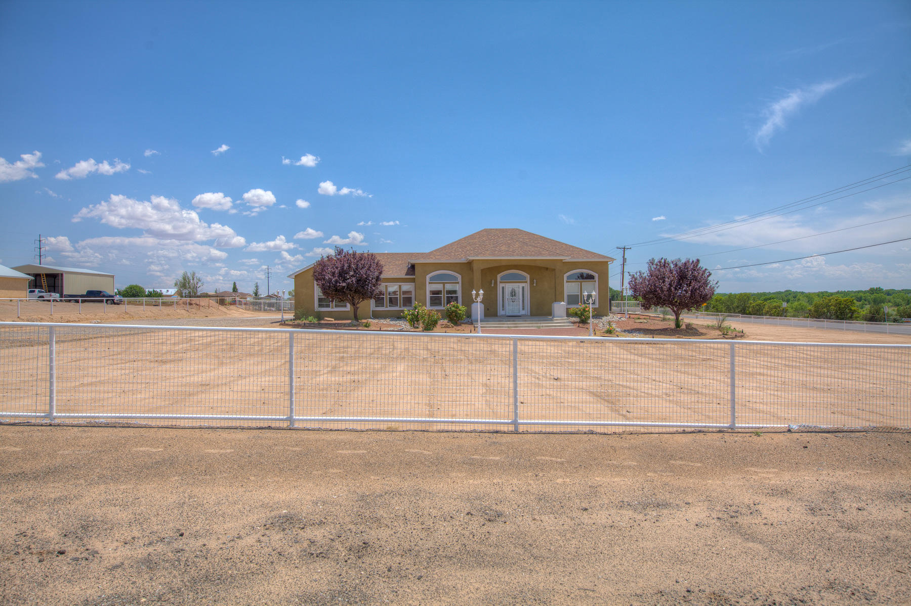 Fantastic home in desirable location on just over an acre room for toys and animals.Enjoy this single story ranch home with open floor plan.3 bedrooms 2 bath 2 car garage. Must see. New stucco, roof, HVAC and gutters.