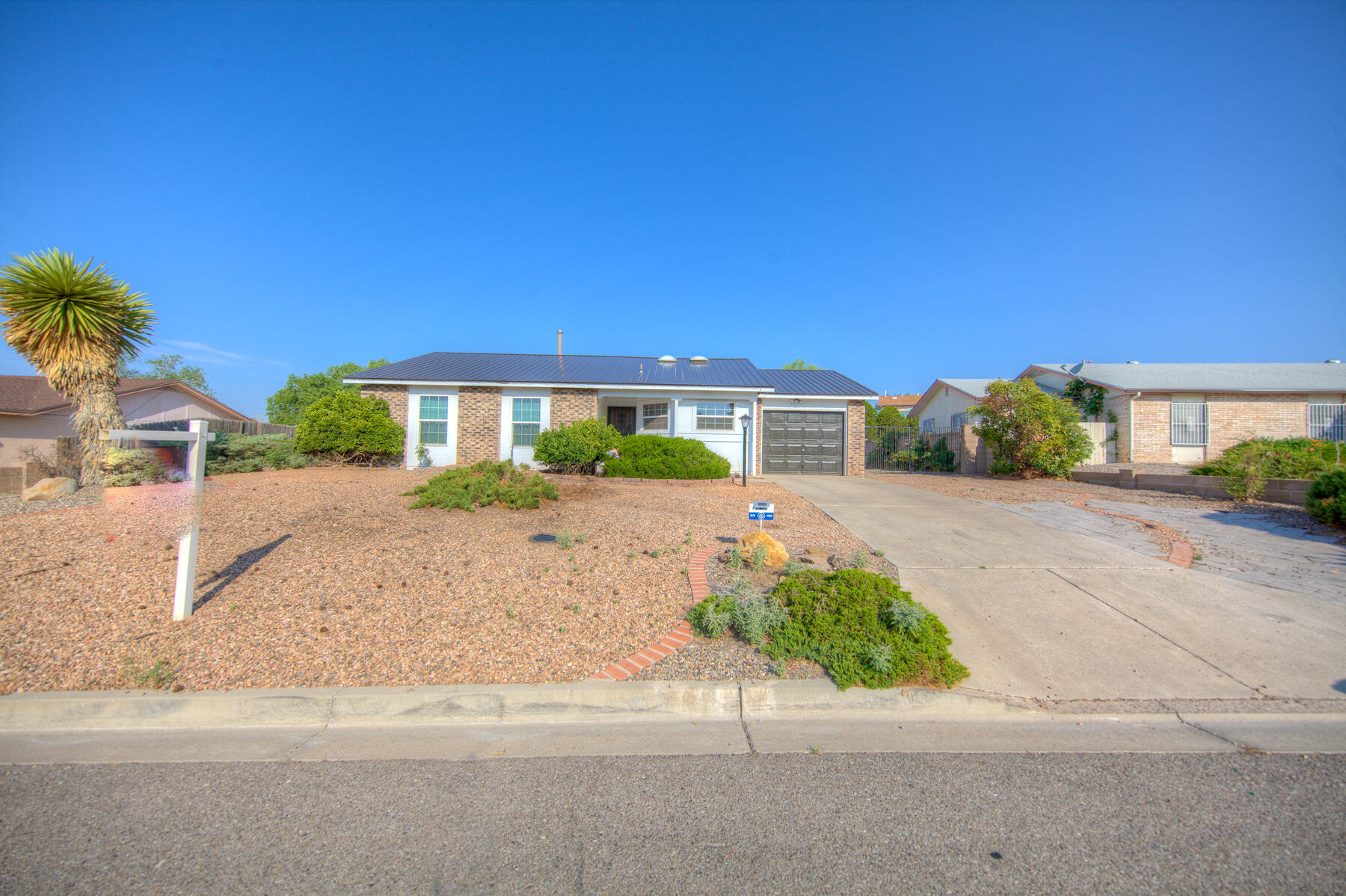 Great Rio Rancho single story home on large lot with back yard access. # bedrooms 1.75 baths 2 car garage open floor plan. Make offer today.