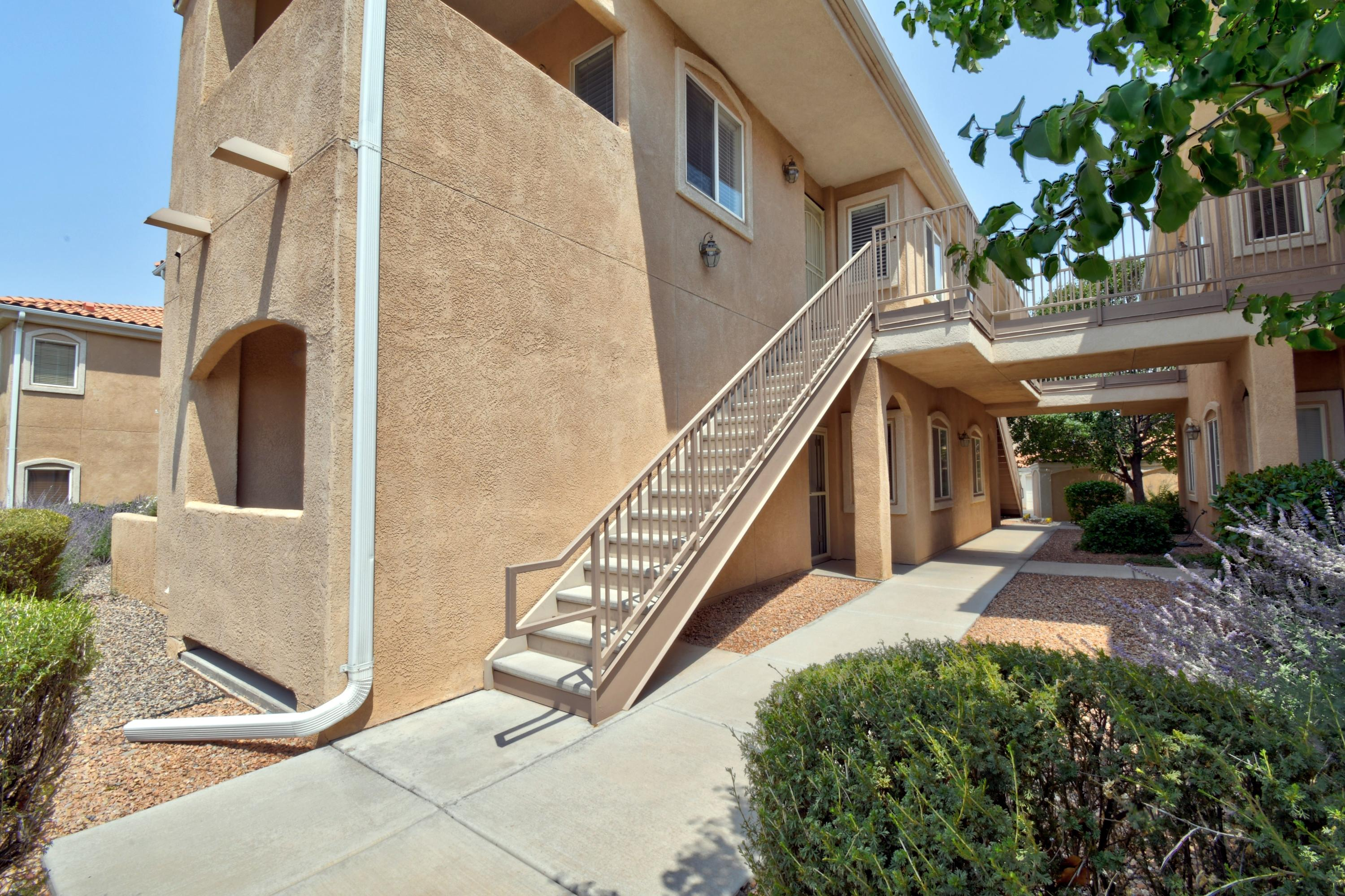 This is it! Very well kept and super clean 3 bedroom condo in desired Vista Del Norte subdivision, close to shopping, I-25, dining and entertainment. This particular cozy unit is located on the bottom level, towards the back of the building which backs up to the park.  Inside this gem you will find a spacious kitchen which opens to both the living area and dining area. Perfect for including all guests! Solid laminate and tile flooring throughout makes home easy to clean. Be sure to check out the wide open park and private clubhouse. Make sure to make your appointment today!