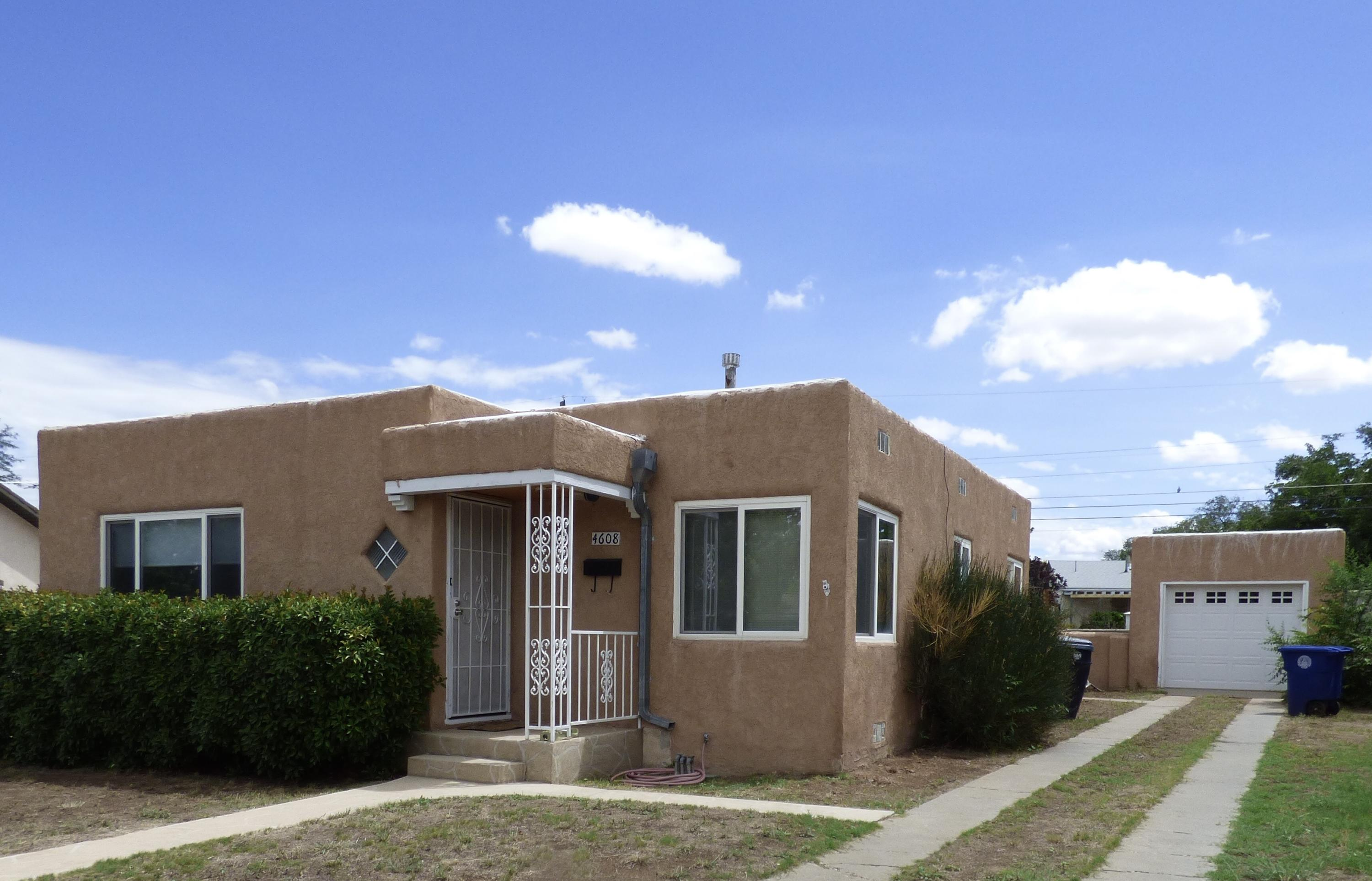 Grab it NOW!Cute 3 BR 1 and 1/2 BA Pueblo style on a large size lot in the heart of popular Ridgecrest/Parkland Hills area.  Plaster walls, coved ceilings, and hardwood floors.  Double pane windows.  New stucco 2021, new roof 2020, H20 heater and forced air furnace in 2016 too.  Detached garage w/storage.  Sooooo much potential at a rapidly disappearing price.