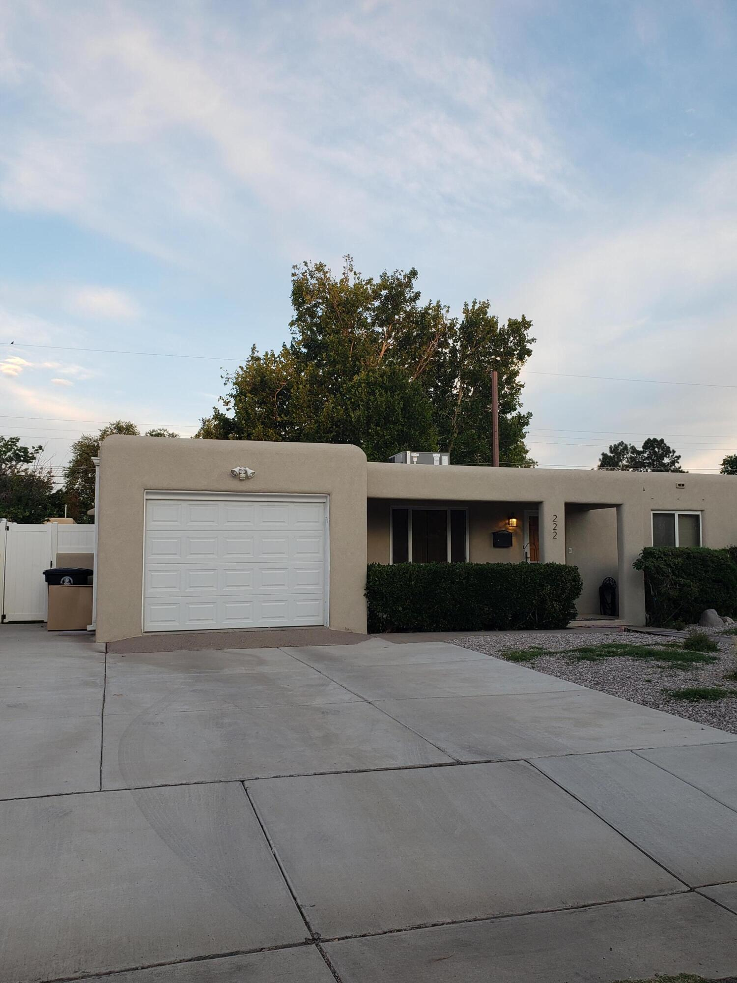 Opportunity to own a charming,  well maintained, upgraded Nob Hill Gem! Wood floors, fully fenced large backyard with vinyl fence (2019). TPO membrane roof installed in 2015, Sewer Line replaced, refrigerated AC 1 year old Rheem combo unit! Tankless water heater 2019, 20x13 back patio, made with low maintenance steel 2019, french doors 2019, Reverse osmosis system, this little house really shines with pride of ownership, not to mention new stucco and  with upgraded windows! 1 car garage with separate laundry facilities, garage has door to access side yard, and there is a gate that leads from backyard to the front yard. Steel storage shed stays!