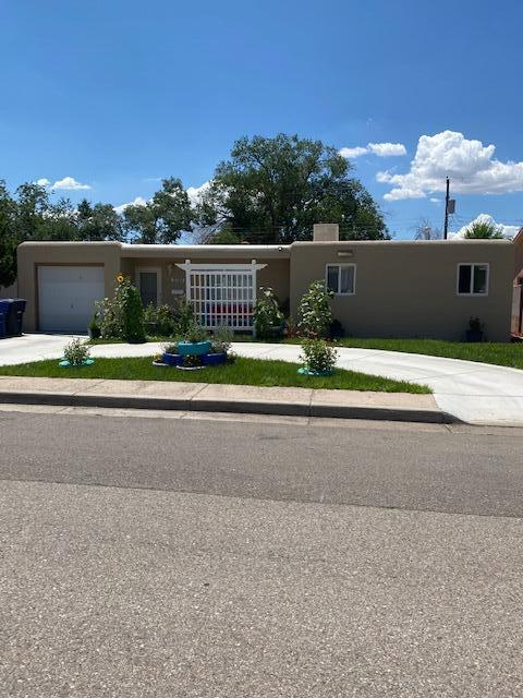 Cozy three bedroom home under $200,000 in the NE heights!!!! Fully landscaped front yard and spacious back yard with a newer shed. Fresh paint and roof replaced within the last five years per seller. Fridge stays, but washer and dryer do not.