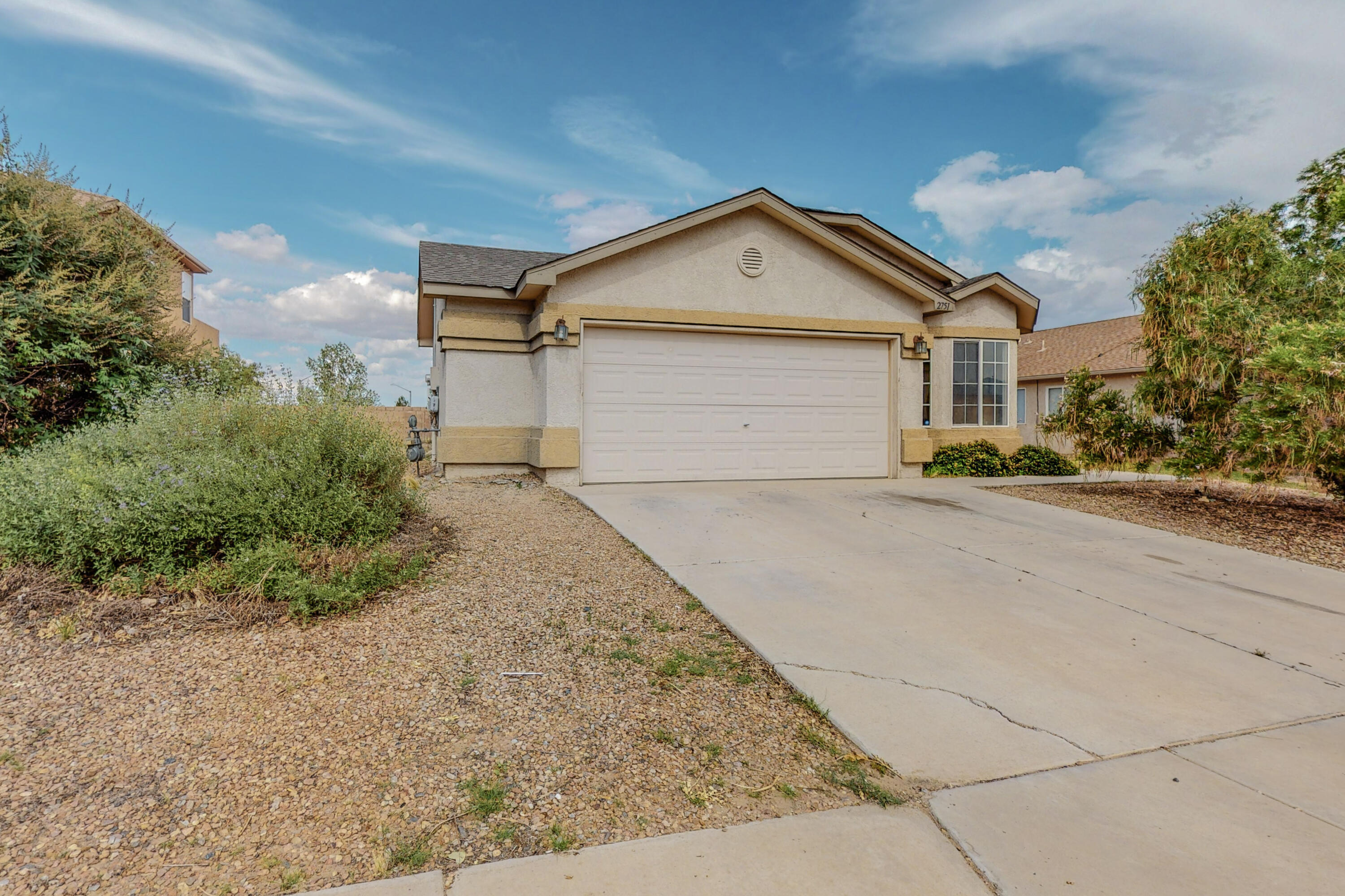 What a great opportunity in Los Lunas! This 3 bedroom 2 bath home is close access to shopping, I-25, and parks! With an open concept this home features a possible 4th bedroom or office space off the main living area. This home comes with solar panels! The covered patio is a perfect space for backyard BBQ's or enjoying the evenings! Call today to find out how to make this home yours!