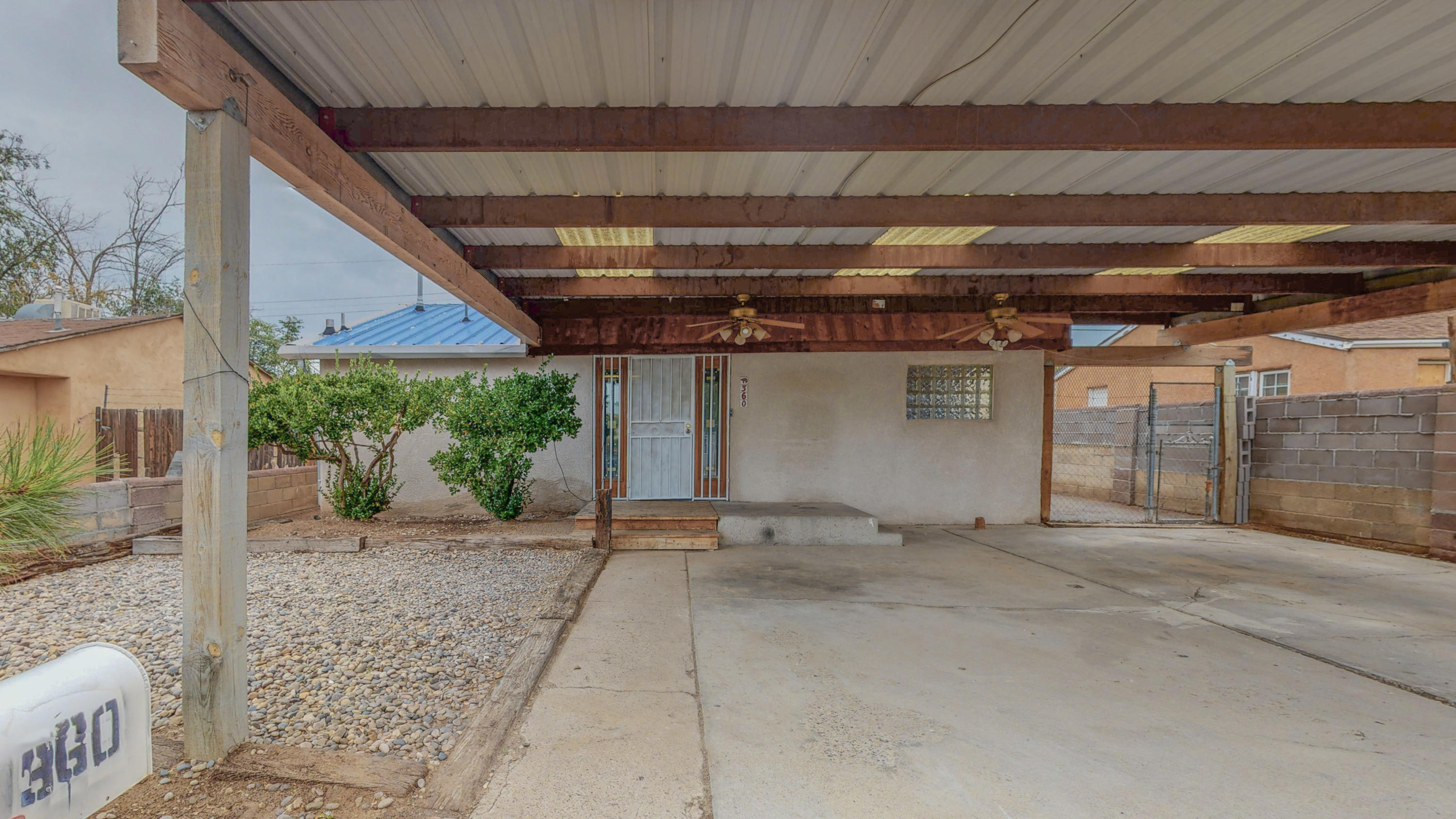 This home is centrally located near I-40, shopping centers, and restaurants. The bedrooms are spacious and it has a second living room in the back with a cozy chimney and plenty of space to entertain.