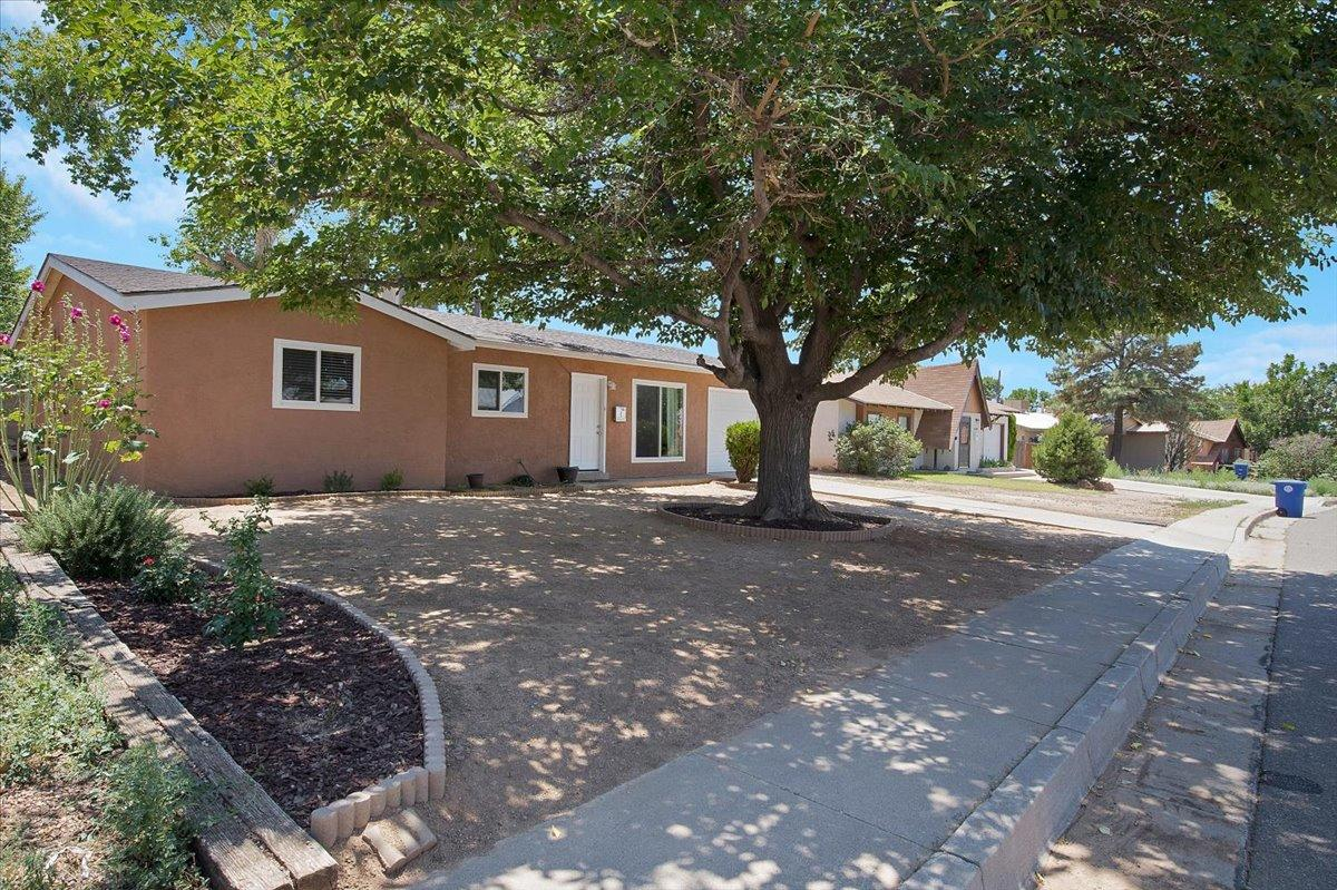 Come check out this move-in ready home in the Princess Jeanne neighborhood.This home has been significantly updated and renewed over the past several years: Roof, gutters, swamp cooler, electrical breaker box, flooring, base boards, kitchen cabinets, counters and range, light fixtures, tile shower, fresh paint inside and out, backyard 6' fence with gate, outside front water line to street and garage door with electric opener.  Refrigerator, washer and dryer stay with the home.  Priced right! Come see it before it is gone.