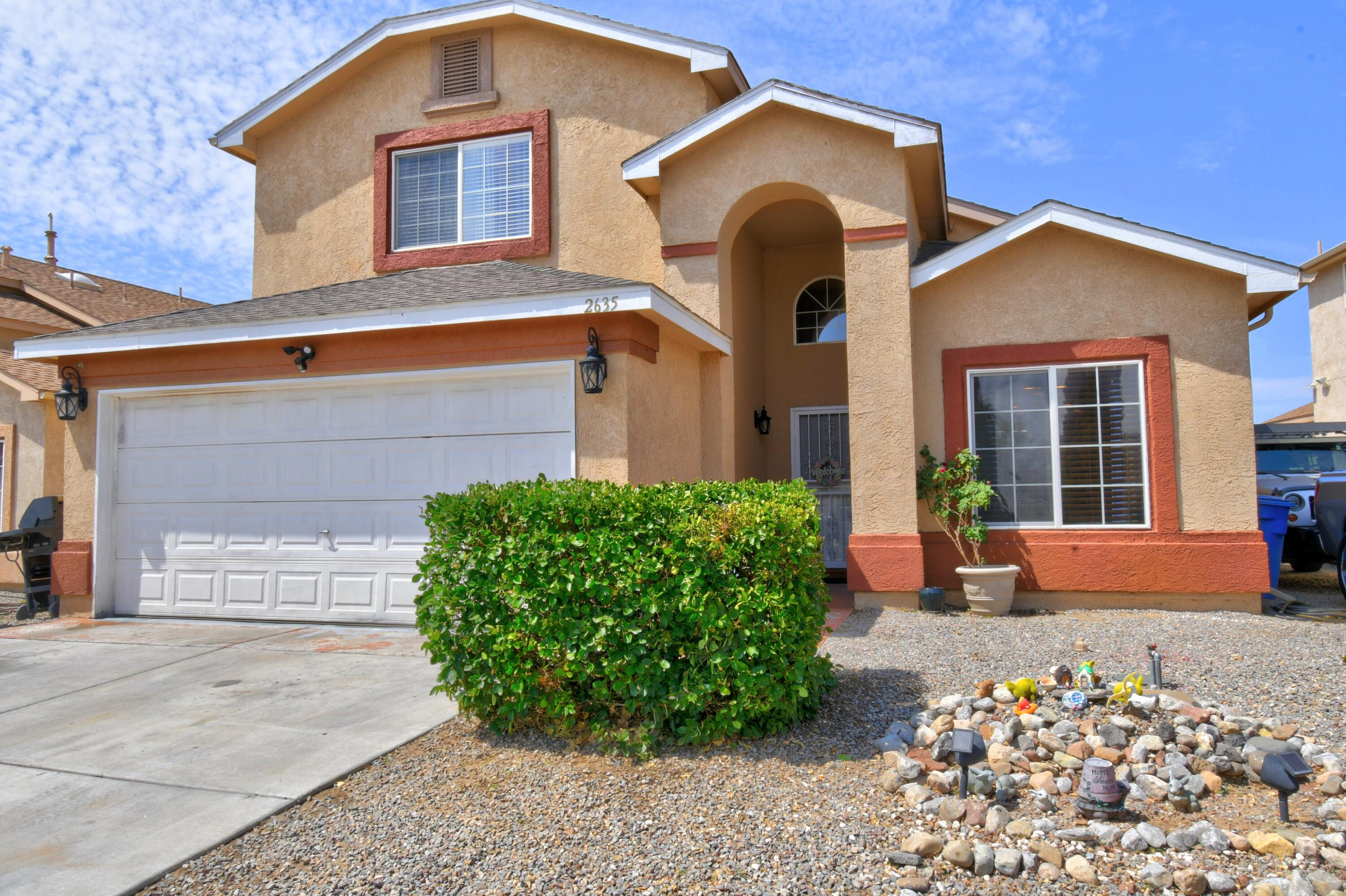 Welcome to this Wonderful spacious home with custom character throughout. It boasts 3 great sized bedrooms, Huge closets and a huge Loft that could be a 4th bedroom,  school room or a 2nd living space. The Master Bedroom is on the MAIN floor with a grand bathroom and Huge walk in closet. Enjoy a separate dining room in the front of the house or use this space for a private office downstairs. The garage boasts a nice Epoxy floor, storage and the house features vaulted ceilings, nichos, and rock accents throughout. You'll appreciate the Refrigerated air! NO HOA -  Near many amenities: Shopping, Theater, Schools, Dining options, easy access to I25 & the Rio Grande River with all its hiking and biking opportunities. Bring your Offers!