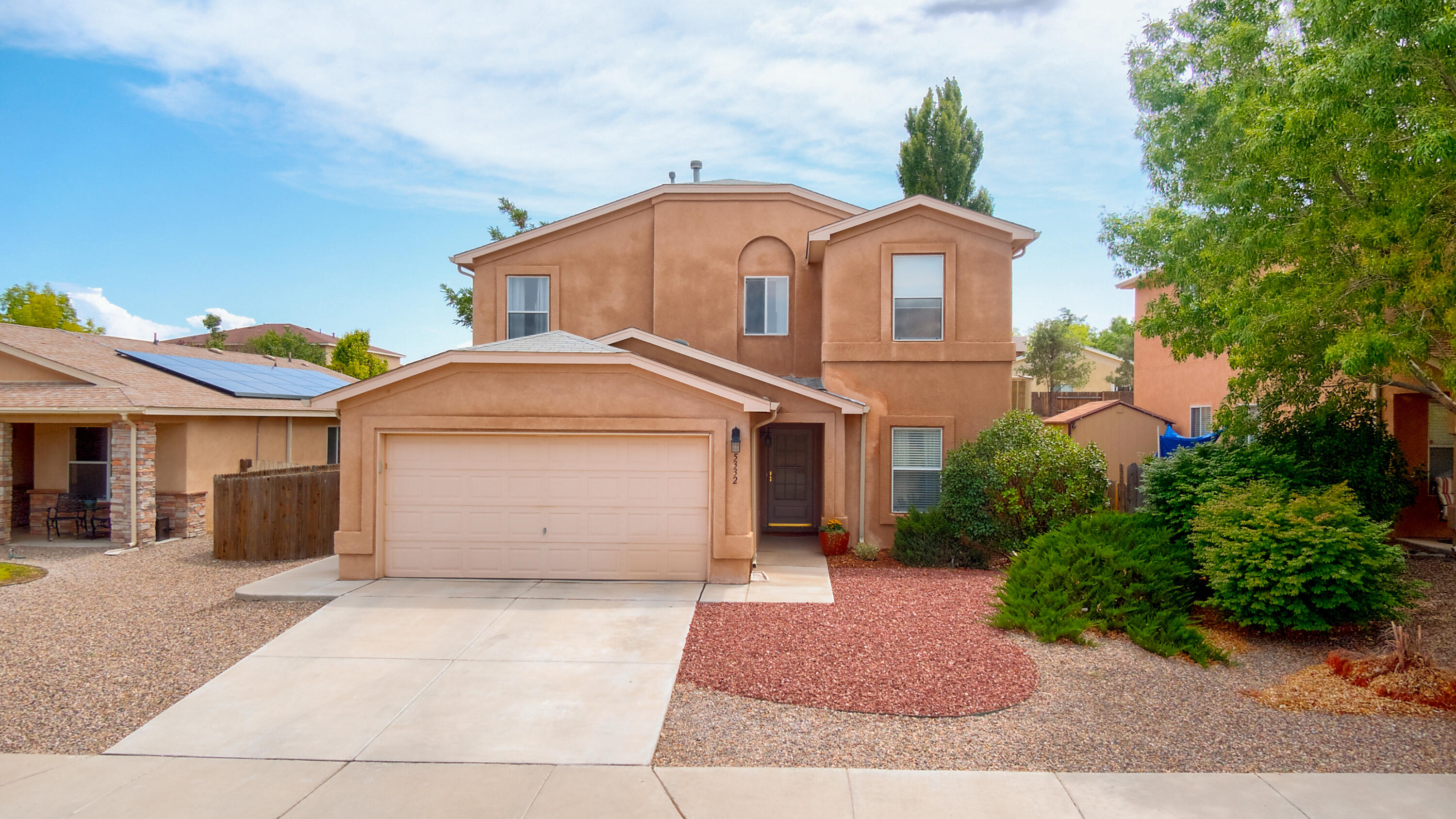 Stunning 2 story home in Stonebridge. Many updates & immaculately taken care of. There are 2 parks within the subdivision including a community pool for summer fun!  One bedroom and full bath downstairs for multi-generational living. Kitchen has been updated with quartz counter-tops, granite sink & newer appliances. Home has been converted to AC. Seamless gutters & downspouts were installed 2002,new tile  2021 in 2 bathrooms, laminate floors, low flow (tall) one piece toilets.  Driveway & sidewalk were  replaced. Roof was replaced in 2005. New water heater 2012. Close to shopping, restaurants and hospital.Don't miss this wonderful home with a beautiful yard to relax in.