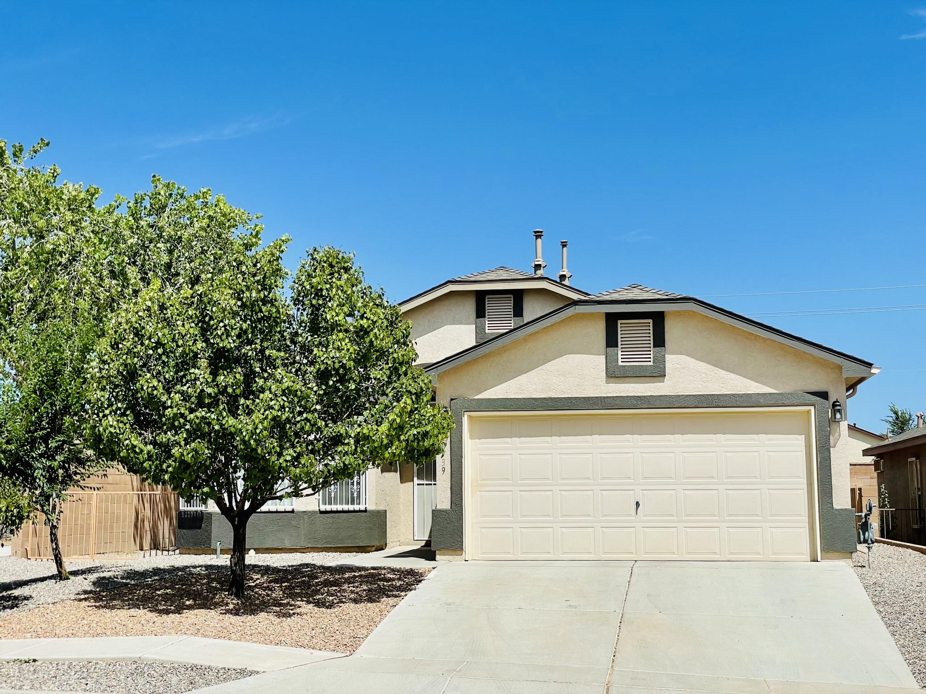 Charming D.R. Horton home located on large corner lot. Nice open floor plan. 3 bedrooms. 2 full bathrooms. Large backyard, nice blank canvas for new owners.