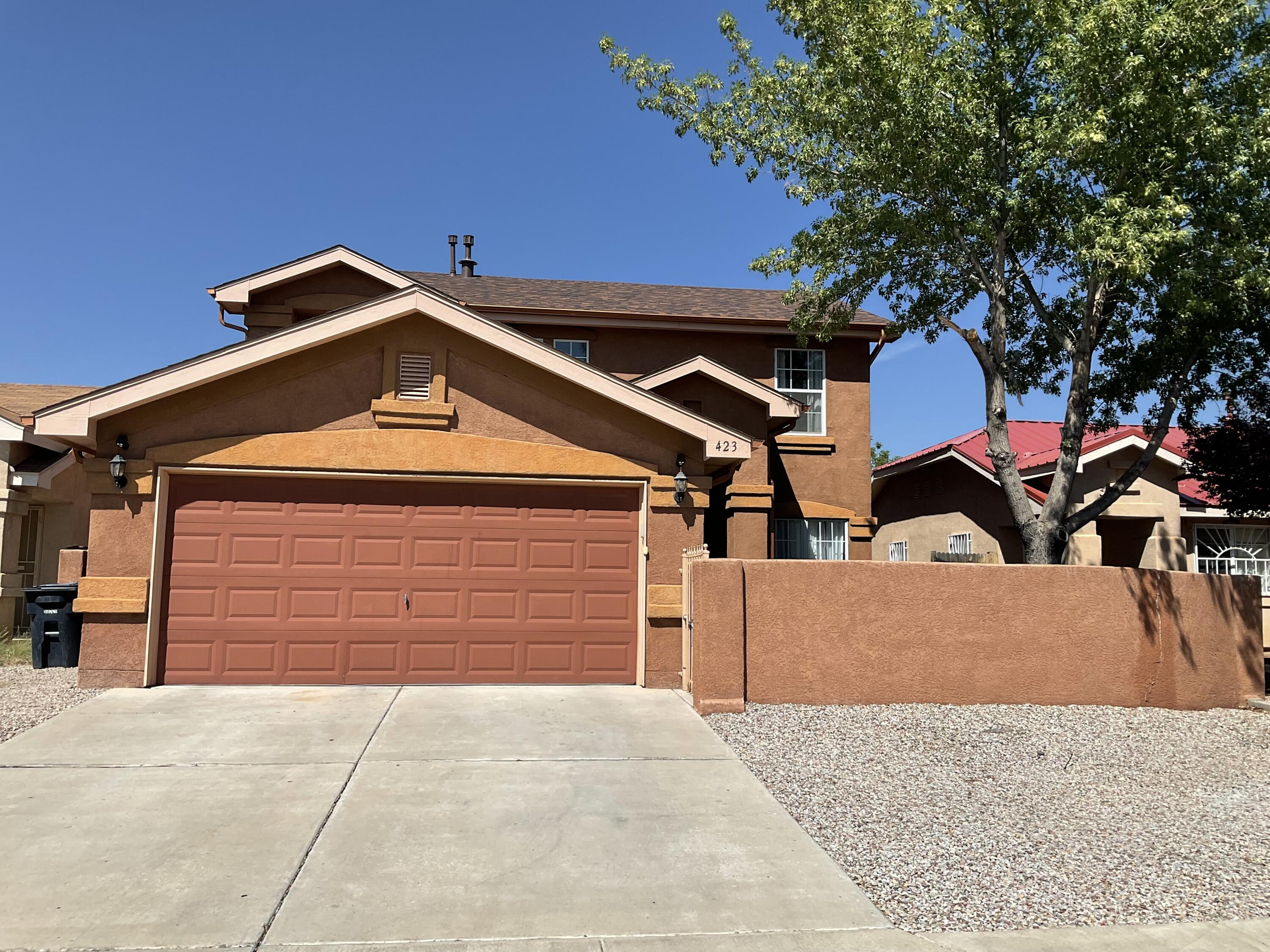 Come and see this beautiful and cozy home. New roof installed in 10/2020. 3 bedroom 2 1/2 bathroom and a loft. REFRIGERATED AIR!!!!!!!!! Gutters and NEW roof installed on 10/2021. Your clients will fall in love with the patio. Apricot and peach trees, in addition to a cover area to enjoy the BBQ with the family and friends.Sellers prefer to close @ Stewart Title with Debbie Hennig.HOME IS OCCUPIED. Owner is requesting 1 hour in advance notice.  Please schedule via showing time. USE ALL COVID PRECAUTIONS.