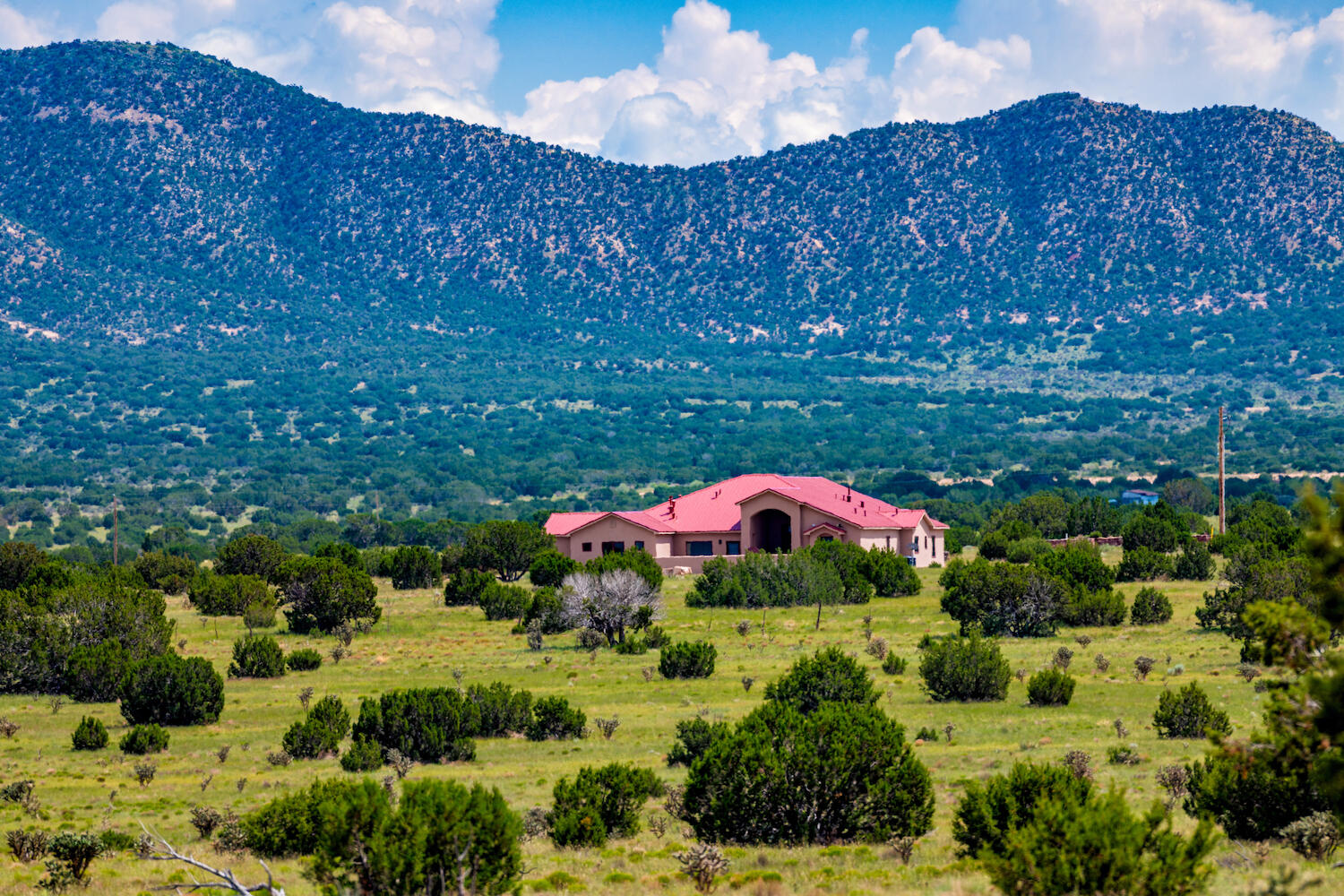 Commune with nature, find your zen, surround yourself with the most majestic backdrop, get away from the fast paced world or if you need a multi-generational compound, in need of inspirational office space to write that book or story? This modest ranch situated in the most scenic part of Socorro county is calling your name. Nestled by the Manzano mountain range, part of Cibola National Forest, near the town of Mountainair this jewel includes 149 acres of pristine land, 30 acres fenced around custom built home featuring 3 bed, 3 bath, 2 office spaces and much more. Entering through custom gates in to the 3500+ Sqft of living space the details are everywhere. Solid wood door w/stained glass, barreled ceiling, beautiful tile work greet you at the entrance.