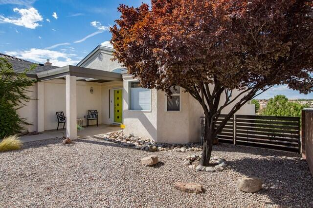 Panoramic Views from this CUSTOM beauty! Enjoy your morning coffee with the majestic Sandia, Sangre De Cristo & Jemez Mountain ranges as your backdrop. Welcome home to this amazing original owner SMART home near shopping/restaurants/hospitals & Paseo del Norte. Many recent updates and amenities to this 2X6 custom beauty!They are attached in separate document. Refrigerated air AND evaporative cooling. No smokers or pets have ever lived in home. Multiple uses for this extended large yard:  RV storage with clean out. Have a boat? How about a project vehicle?  There's a place to store it. Perhaps build a storage with a deck on top.  Great place for fruit trees or a garden or just enjoy the extra space. FULL HOME INSPECTION COMPLETE.SEE ATTACHED AMENITY / UPDATE LIST