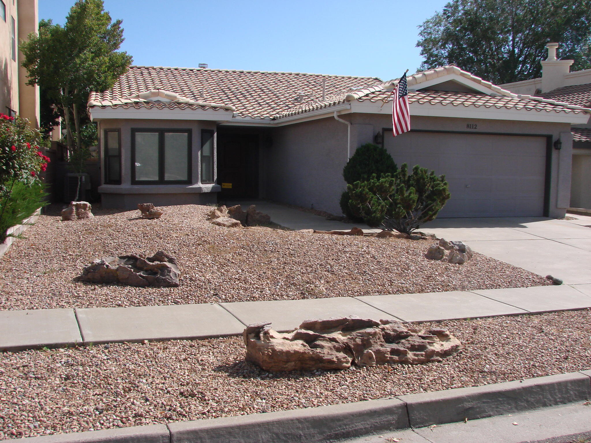 You will love this beautiful home located in the desirable La Cueva school district. Nicely landscaped front and back yards and lots of really great updates including new stucco sealant/paint, Bryant Refrigerated air and heating system, newer hot water heater, new carpet in the bedrooms, custom two tone paint through out, Pella windows and doors with built-in mini blinds, Maytag appliances and a really nice enclosed atrium patio off the master bedroom. Large master bathroom features a separate shower and garden tub. The backyard is super low maintenance. Would make a Perfect retirement home!Take the great feeling you get in this beautiful move in ready home and make it yours today!
