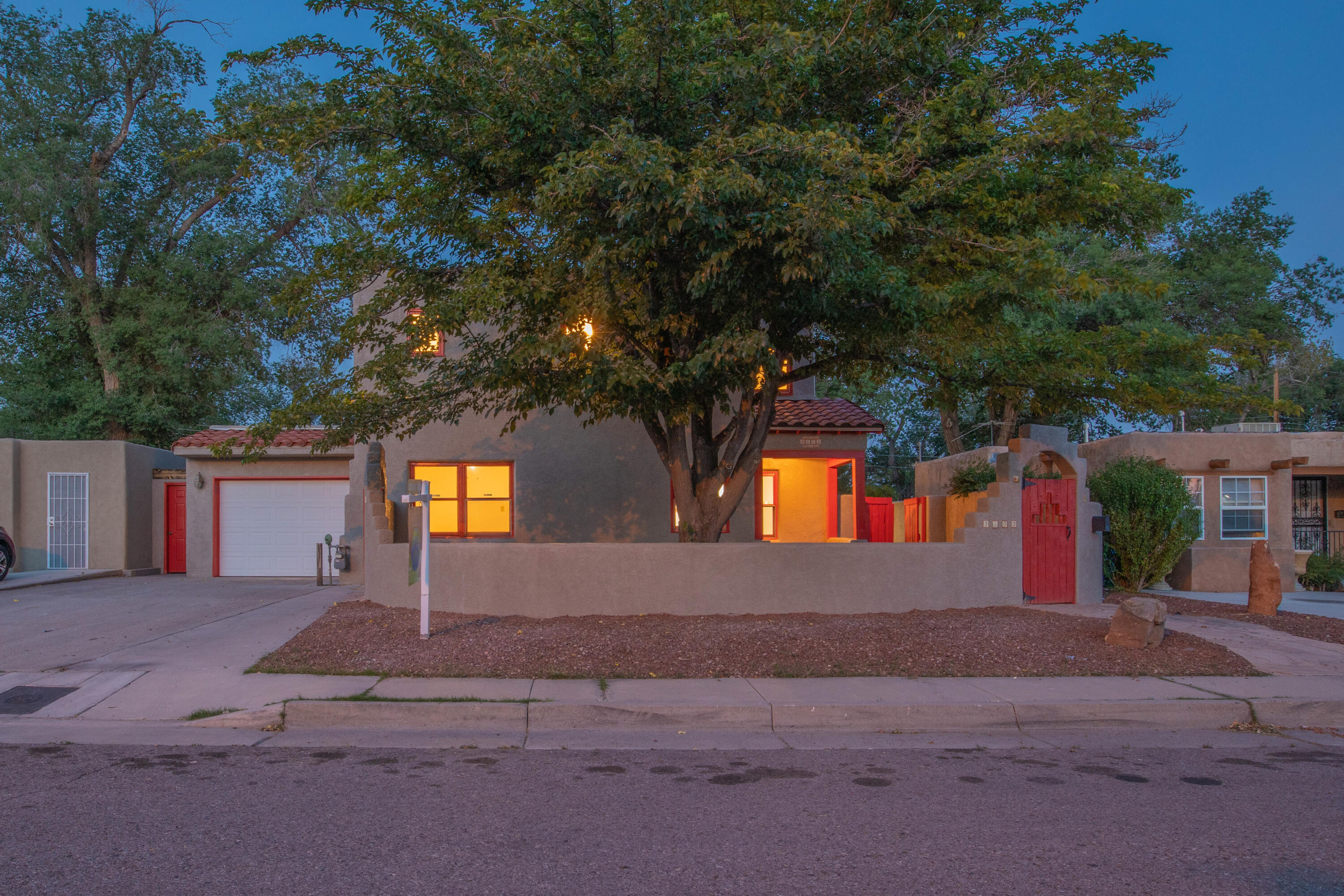 This Nob Hill Gem has had a complete makeover! From the new TPO roof, to the refinished original wood floors, and nearly everything in between. Features include new and newer stainless appliances, granite counters, refrigerated air, and more. Artists, musicians, yogis... there's a 370 sq ft heated studio/guest room with murphy bed in the back (sqft incl in total). The large office upstairs is an excellent set up for live/work. A wonderful landscaped backyard features a coveted inground gunite pool, rare for this area, watched over by mermaids. The location can't be beat. Steps away from the action on Nob Hill and dining, shopping, a show, or class, yet off the beaten path on a block shared by just a few neighbors. You know you want to live here! Come home before someone else does!