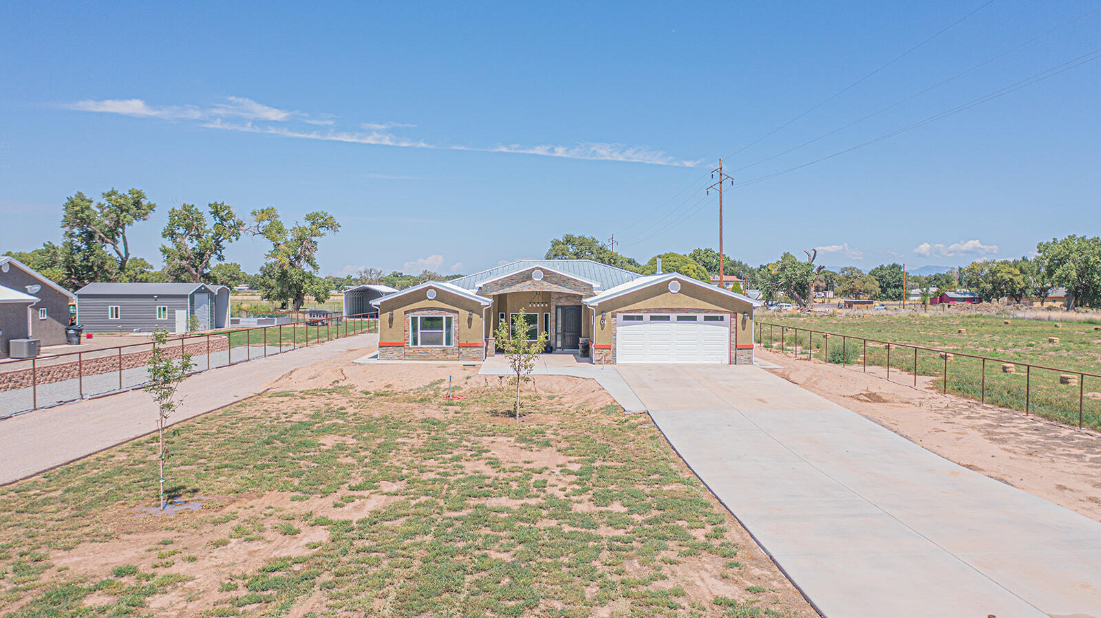 This gorgeous home is conveniently located right off of Interstate 25 in Belen, NM.  This quaint town is the best kept secret in New Mexico and this home is a beautiful representation of that.