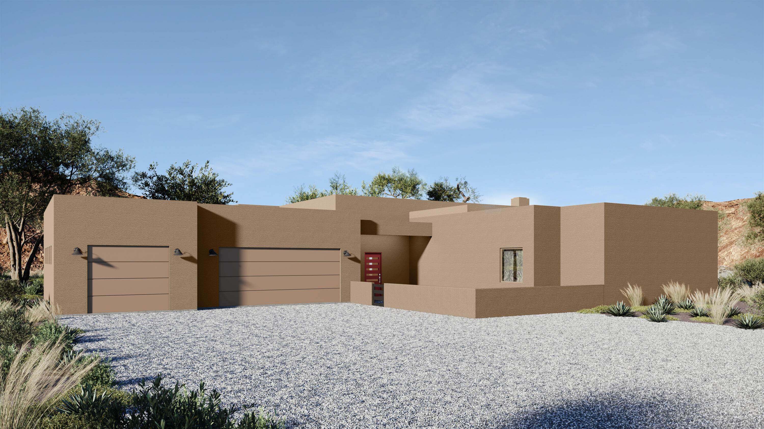 Under construction - single level custom home in the desirable Placitas' Anasazi Meadows subdivision.  Panoramic views of the Sandia Mountains throughout the home and expansive covered patio. The chef's kitchen features custom cabinets, granite counters & island, custom tile backsplash, breakfast bar, Subzero refrigerator, Wolf gas range and micro-drawer, vent hood, Asko dishwasher & pantry. Custom touches include: wood ceilings, unique light fixtures, custom gas log fireplace, wood-look tile throughout living areas.  The split master suite has a huge walk-in closet w/ built-ins, and the spa-like en-suite bath features a dual vanity, large jetted tub & separate shower.  Large 3 car garage w/epoxy floors.  Flat lot w/ lots of room. Welcome home!