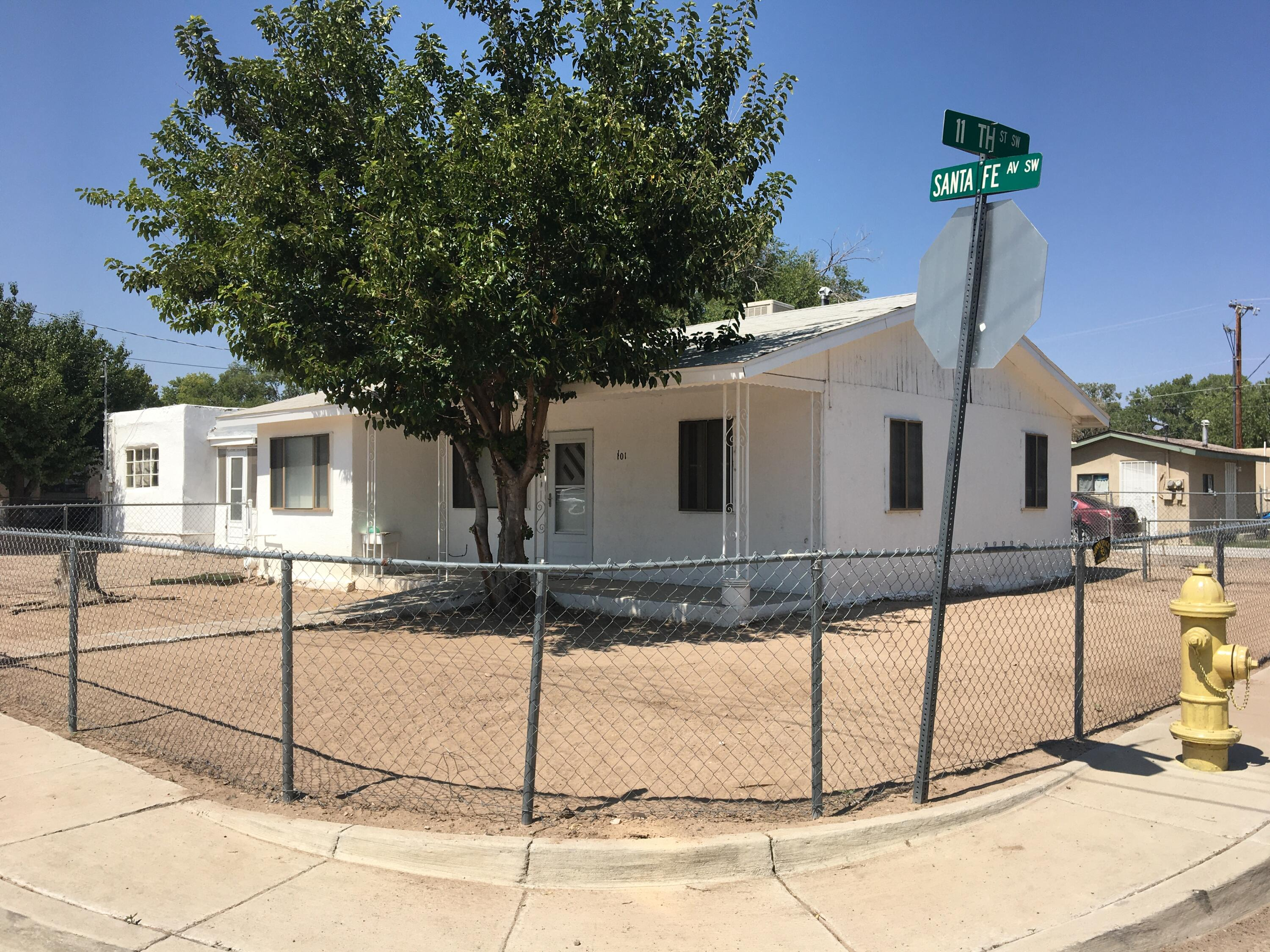 Great Find!  Two homes near the zoo!  Both Sold together.  1101 has 2 bedrooms and 1 bath and is ok to move in now.  1105 needs some remodel but both could be amazing homes.  There is only one water line and one sewer line for both properties, so they are selling together.  Buyer to assume the cost to City of ABQ expansion charge is $6224 + cost of plumber to add water tap and sewer tap to property, if desired.   Amazing opportunity in this area!