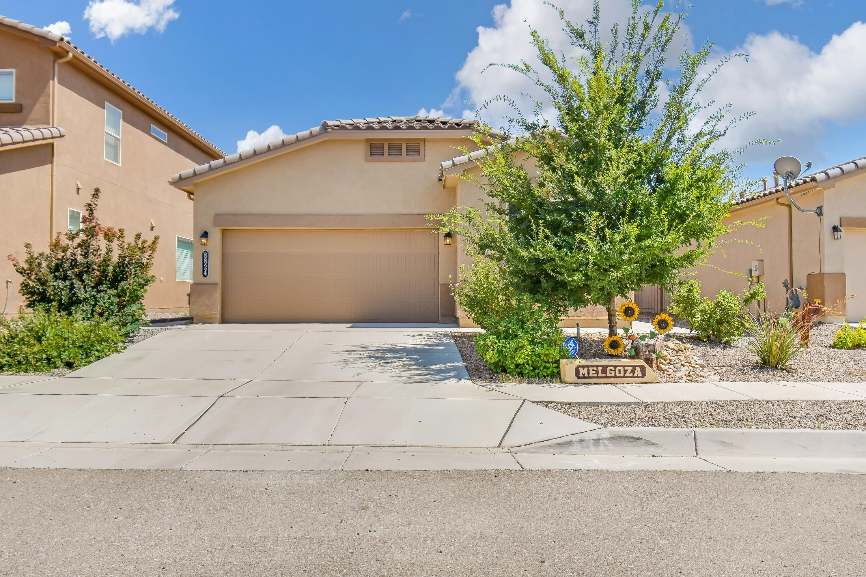 Welcome to this beautiful 3 year old DR Horton home.  This home features a modern kitchen with granite counters, tiled backsplash and stainless steel appliances.  Master suite is spacious and has a very nice master bathroom and walk-in closet.  3 nice size bedrooms plus an office for those who work from home.  You'll want to spend time in the backyard with amazing views of the Sandias.  Come see this move in ready home today, great schools close by too.