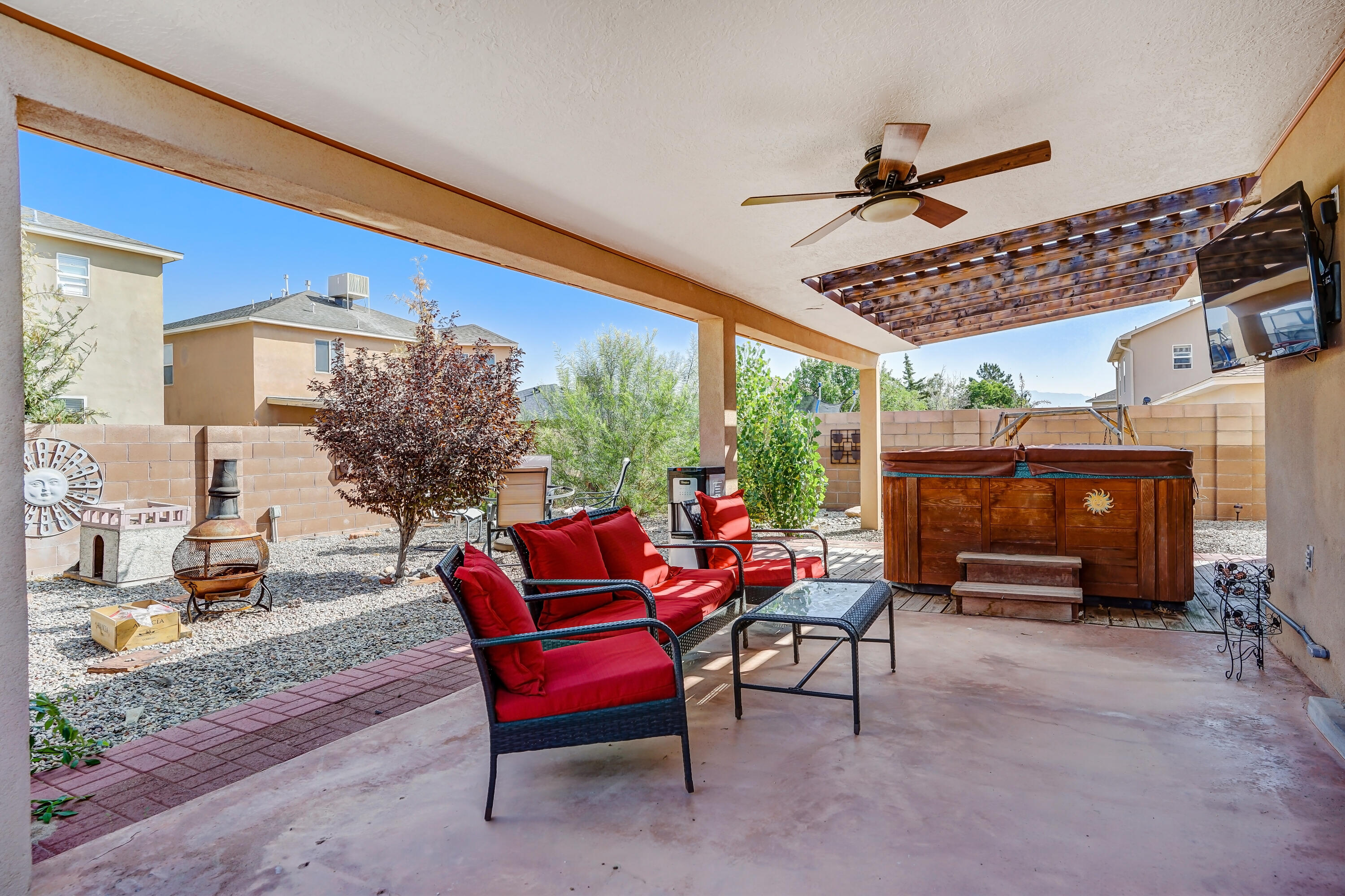 This beautifully updated 4 bedroom home is ready for a new owner! Located in Ventana HIlls. This home has a spacious kitchen with granite counter tops and large island! Enjoy relaxing outback in a hot tub while watching TV!  The home has a finished garage ready for multiple uses! Come see this wonderful home today!