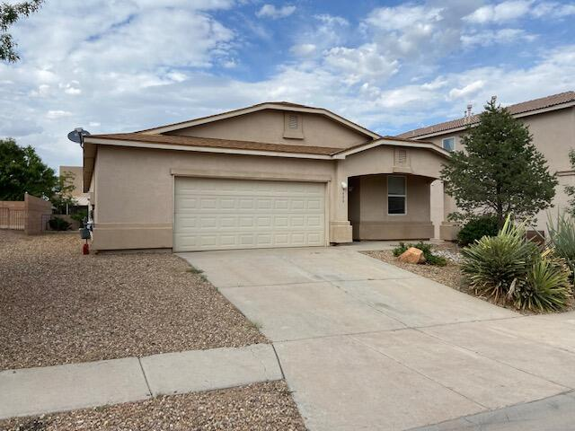 Spacious single story in Huning Ranch!  This location is close to I-25, shopping, schools and churches!  If you are looking for that house with an office this is it!  The fully landscaped yard has plenty to offer along with an automatic watering system.  The garage has added overflow space for that motorcycle or maybe your side by side.  Don't let this one get away!