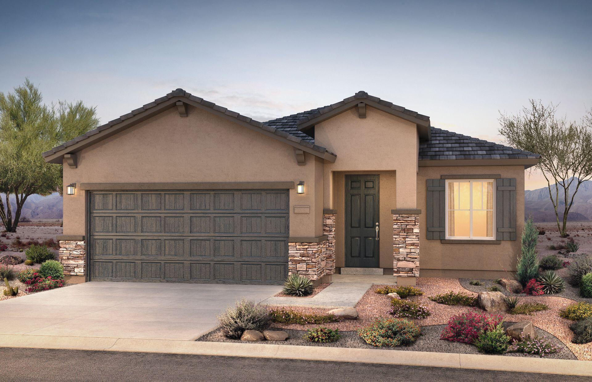 Brand new, never lived in Pulte home in our new Vallecito at Fiesta community. Enjoy brand new appliances, new carpet, new A/C, new tankless hot water heater, and so much more! This home features an extended covered patio perfect for entertaining, private office, extended garage, and 8' upgraded doors. Relax in your spacious master's suite that boasts a bay window and a large shower with a seat. Enjoy a designer kitchen with sleek white cabinets, soft close cabinet doors, and stunning granite countertops!