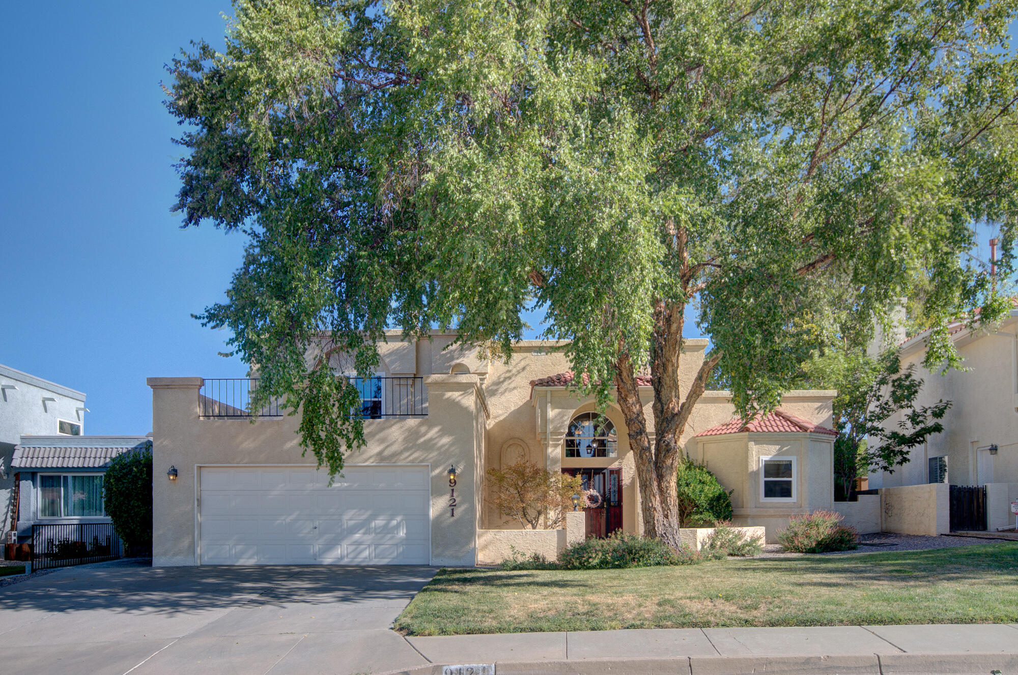 Located in the Carriage Estates enclave within the Heritage East neighborhood and La Cueva H/S district, this wonderful home offers everything you are seeking in your next home: 3-4 Bedrooms, 2 3/4 Bas, Great Rm with fireplace and raised ceiling, a step saver kitchen with tons of cabinets and huge pantry, and a finished and heated basement with multi-purpose room (gym/office/bedroom/game room/craft room) 3/4 bathroom and laundry room. Oversized garage with room for storage.  Efficient Master Cool unit. Lovely lush landscaping.   Enjoy the outdoors on your covered patio and balcony off loft area.Close to shopping (Trader Joe's) and restaurants with easy access to I-25 .Schedule your appointment now to view your next home.   Hurry over!!