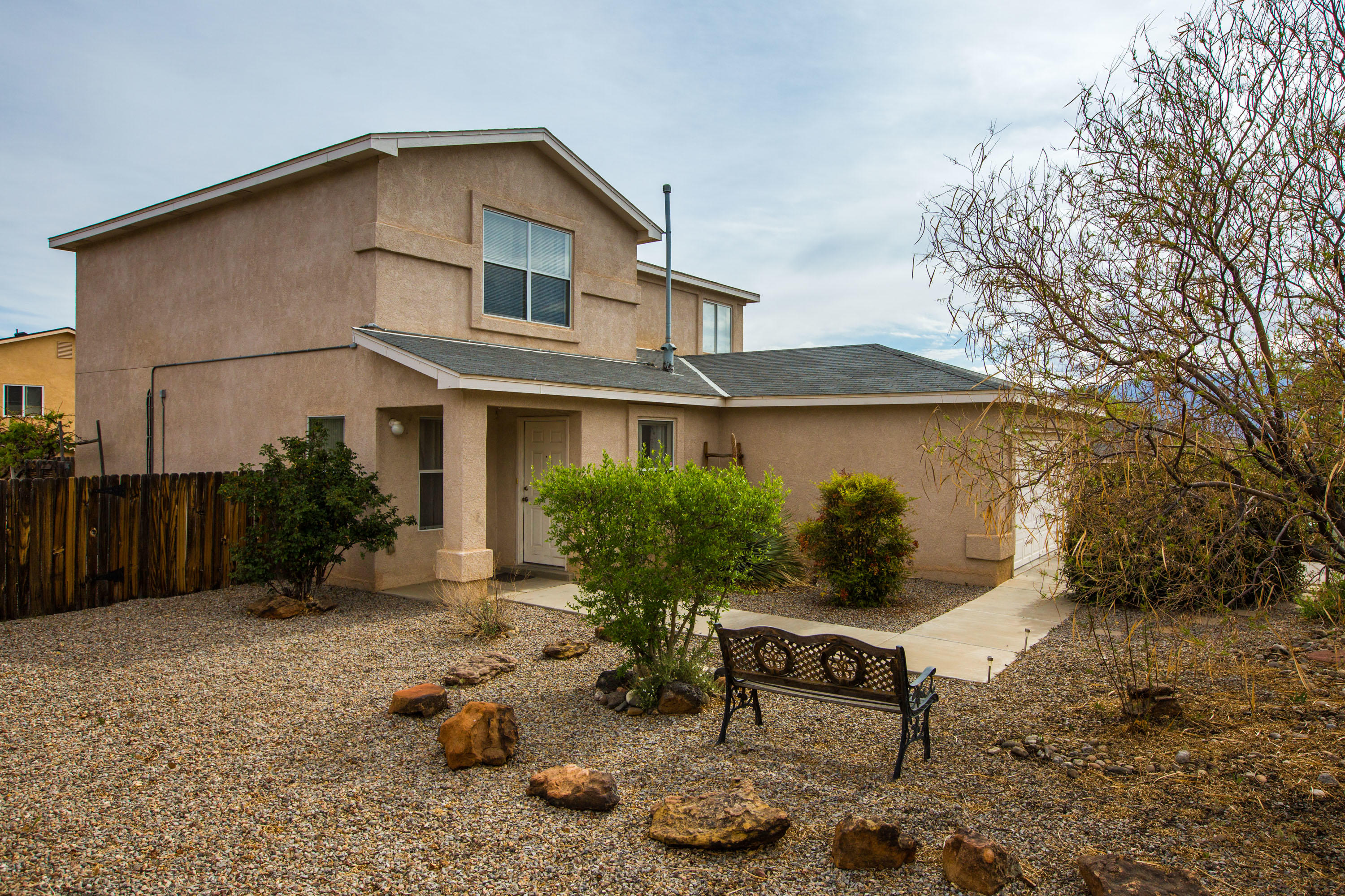 A wonderful home inside and outside! Equipped with a two car garage, refrigerator, dishwasher, gas stove, washer, dryer. The spacious upstairs loft allows for additional living space/office/playroom. Conveniently located near restaurants, shopping and grocery stores. The well maintained backyard offers a covered patio and space for entertainment. Don't miss out on this great property! HOA provides you with access to community pool and parks in subdivision.